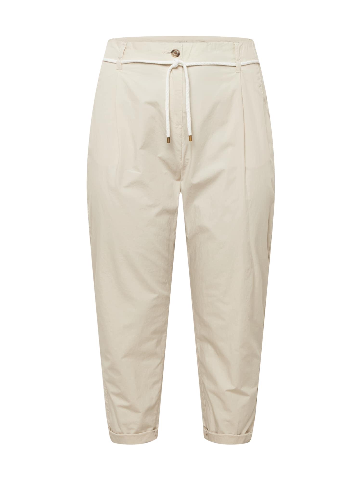 Esprit Curves Klostuotos kelnės gelsvai pilka spalva