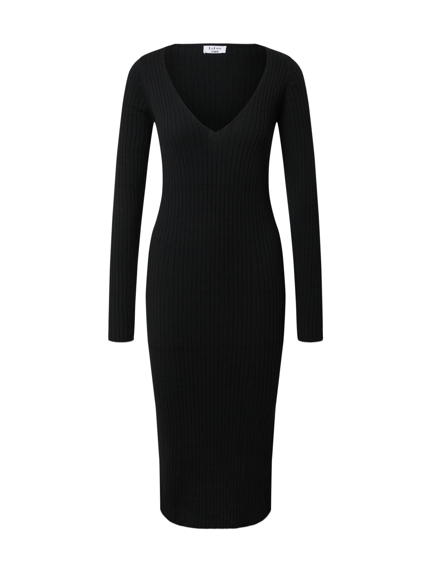 LeGer by Lena Gercke Megzta suknelė 'Josefin' juoda
