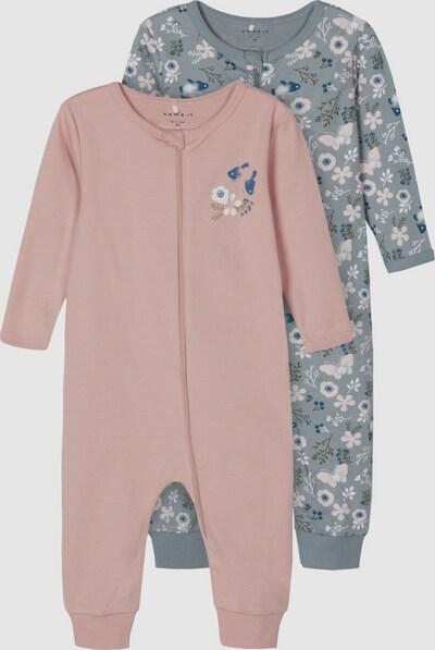Name It Baby Langarm-Schlafanzug mit Reißverschluss in hellem Mauve 2er-Pack