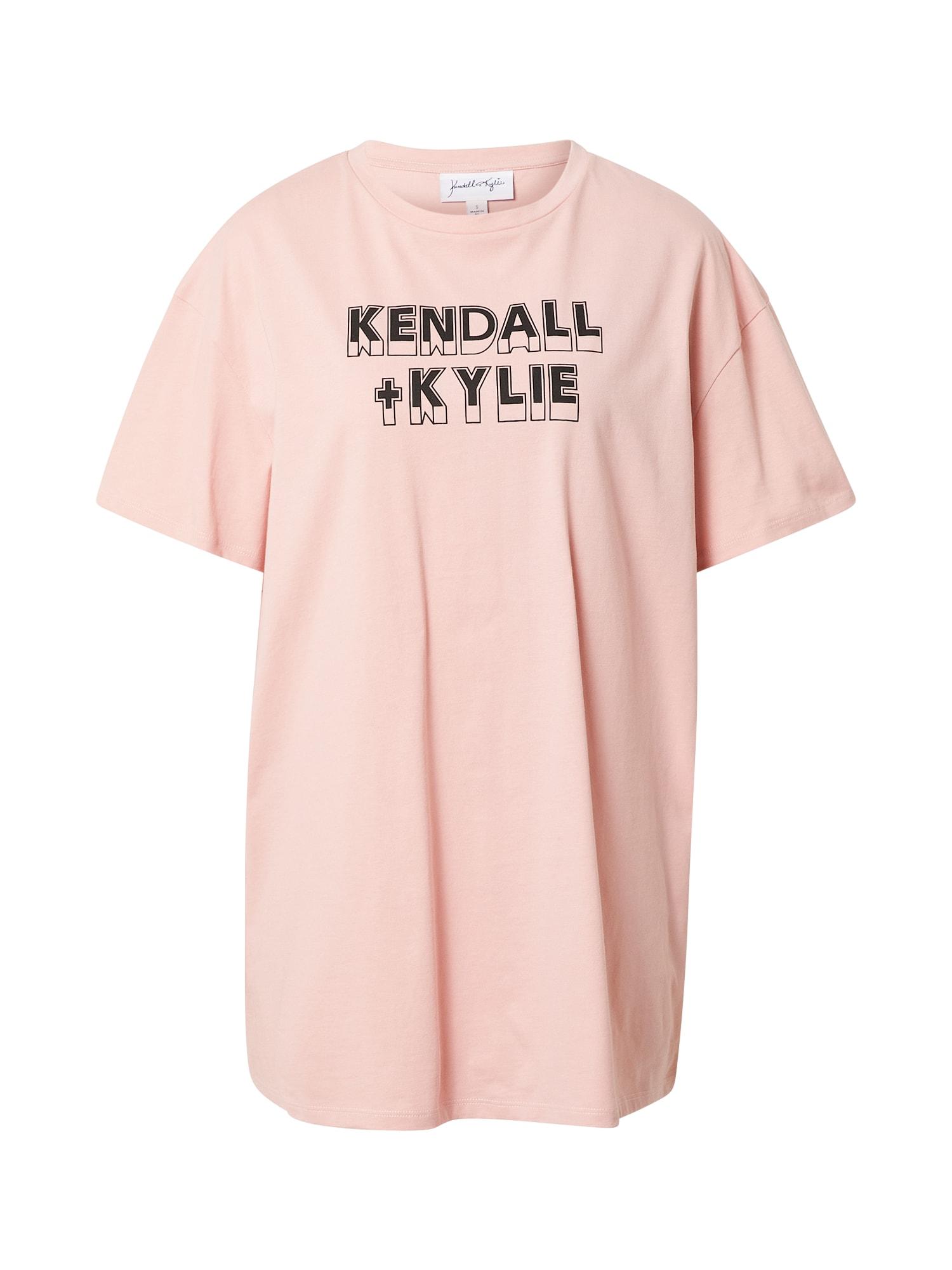 KENDALL + KYLIE Tričko  ružová / čierna