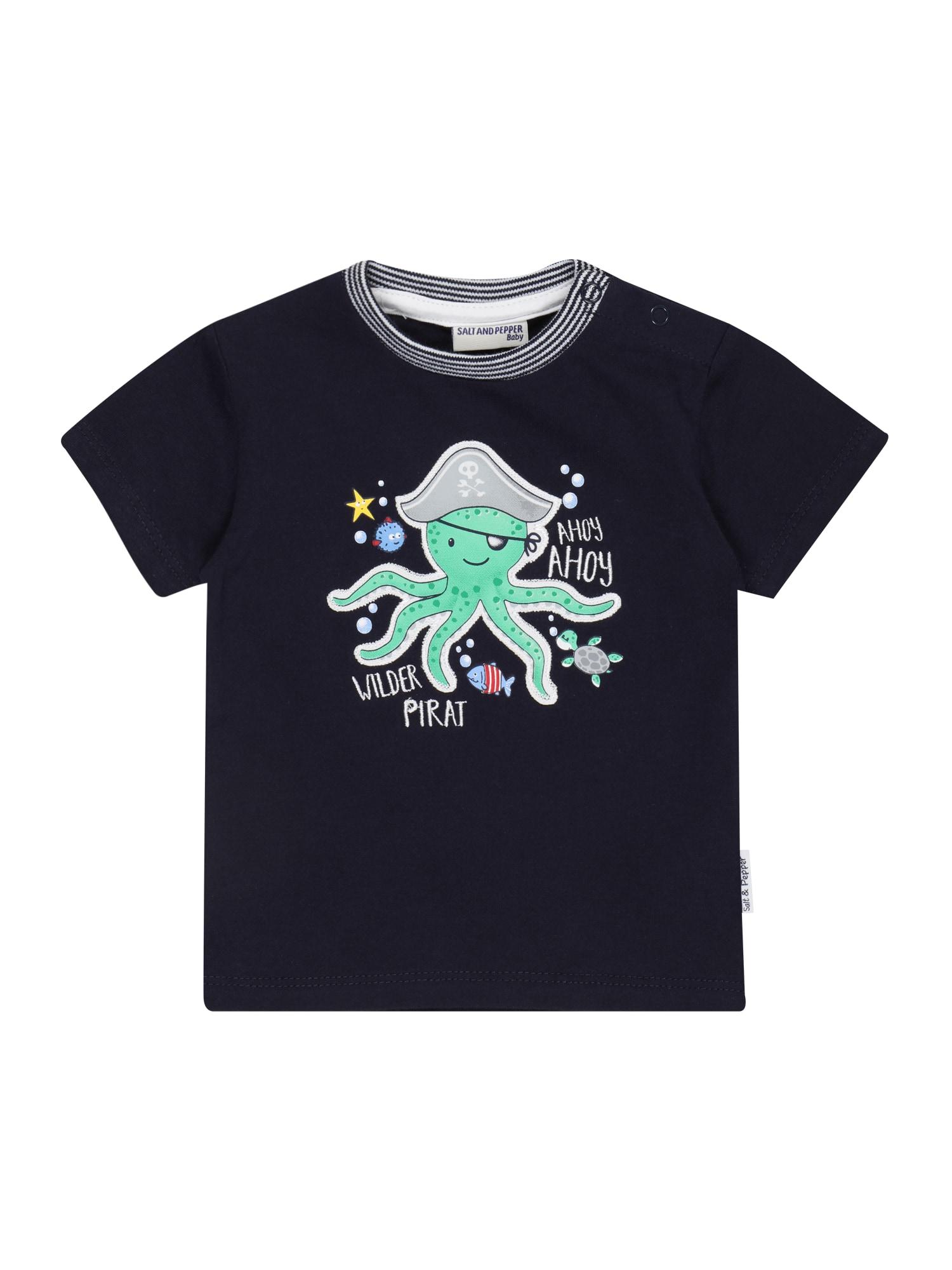 SALT AND PEPPER Marškinėliai tamsiai mėlyna / nefrito spalva / pilka / raudona / geltona / balta