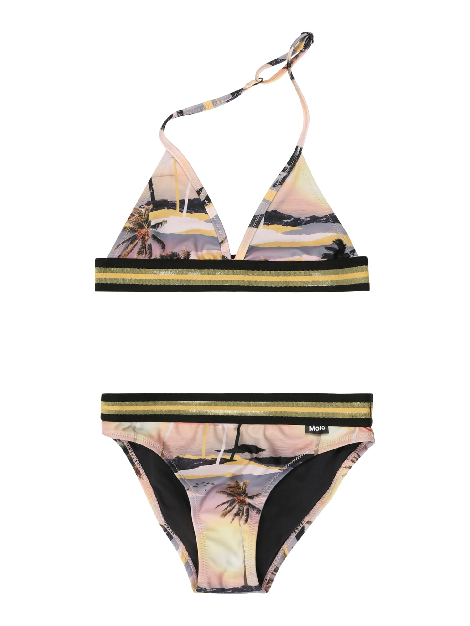 Molo Bikinis 'Nicoletta' oranžinė / balta / juoda / geltona / purpurinė