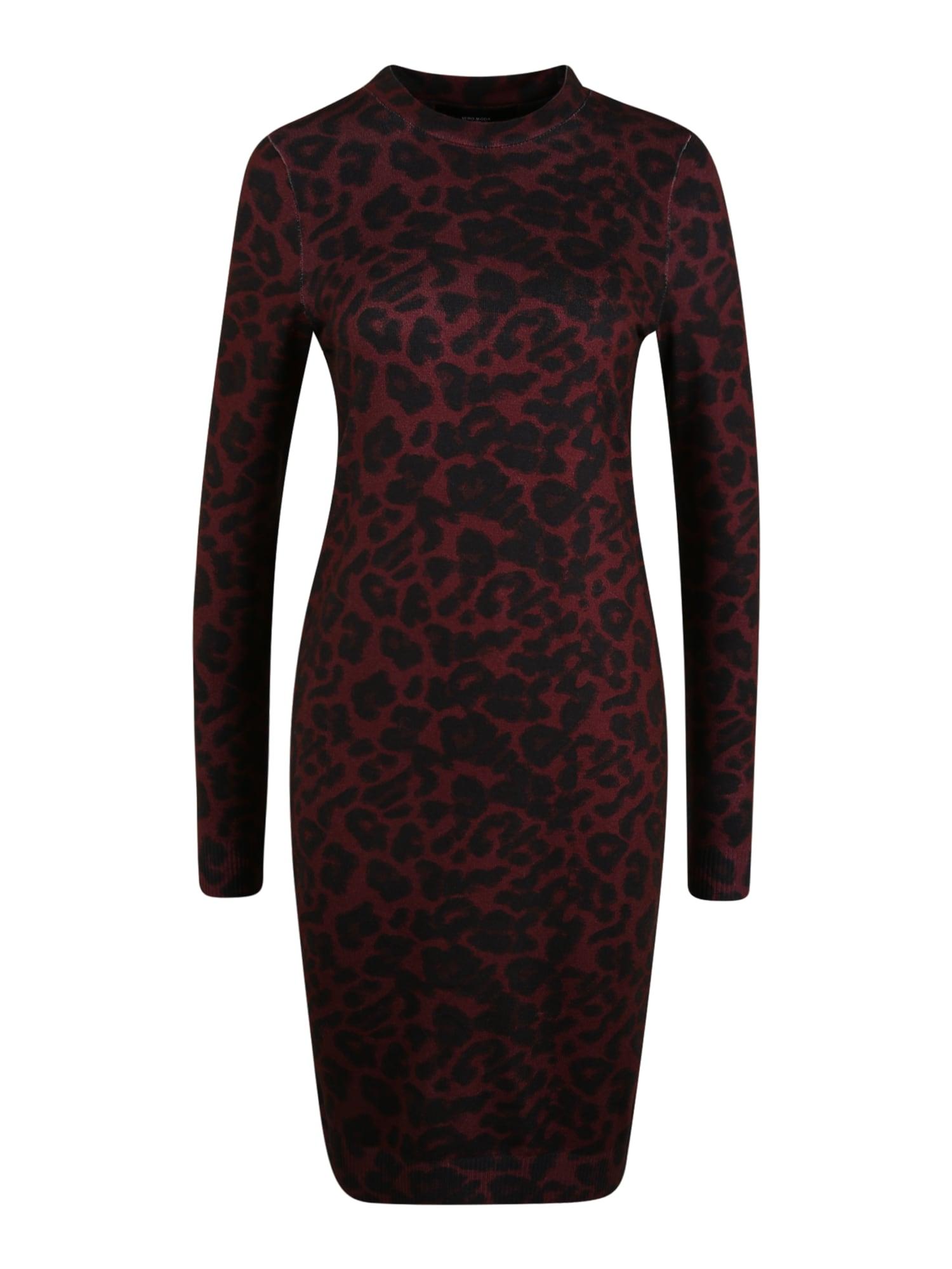 Vero Moda Tall Košilové šaty  červená / černá