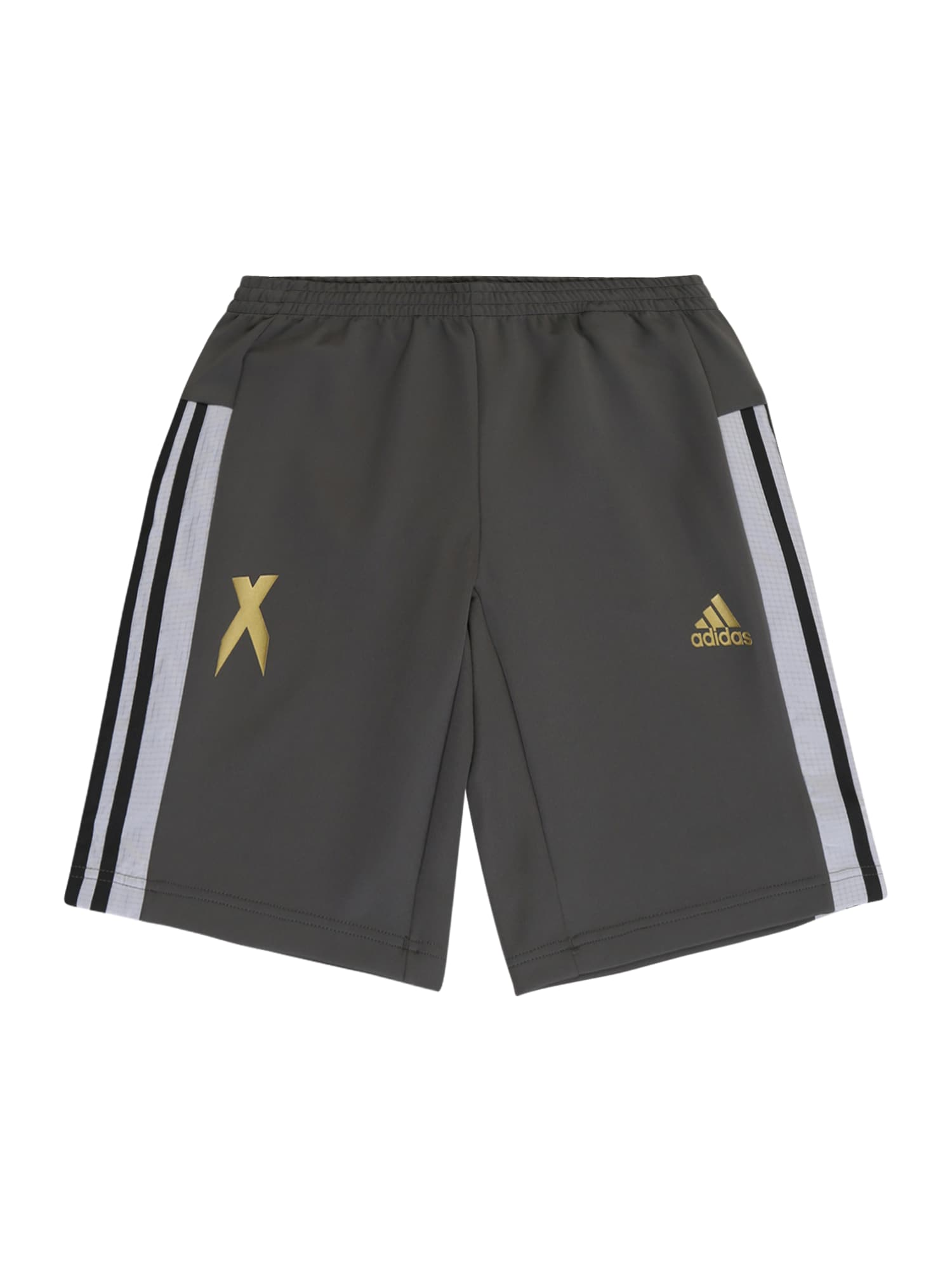 ADIDAS PERFORMANCE Sportovní kalhoty  bílá / zlatá / tmavě šedá
