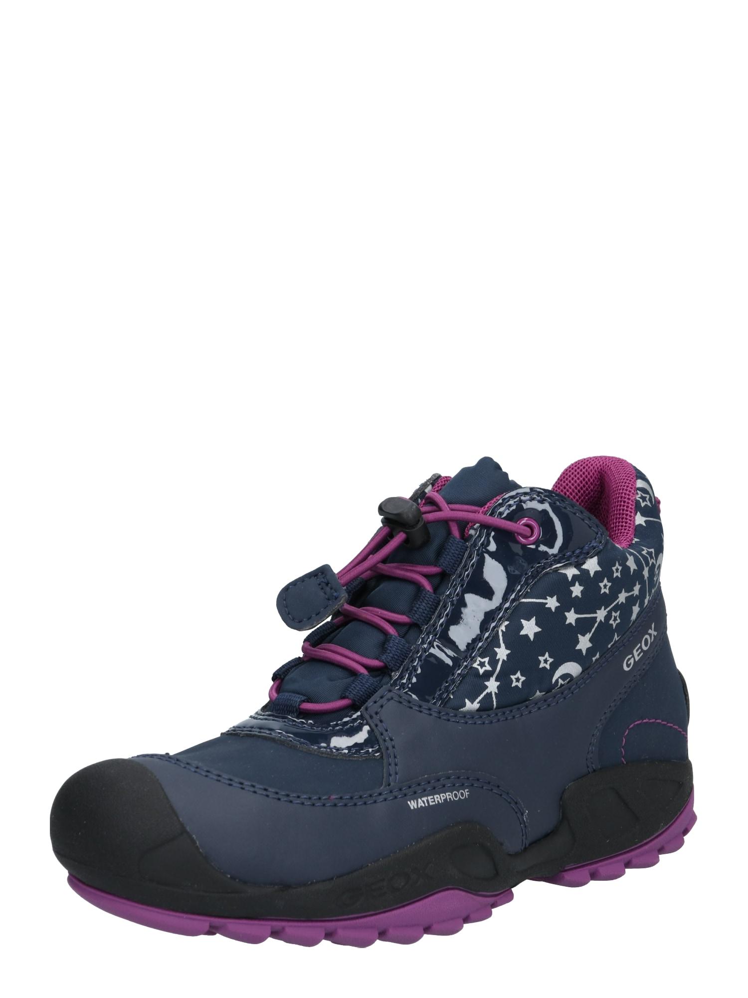 GEOX Kids Sniego batai 'New Svage' rožių spalva / tamsiai mėlyna / juoda / balta