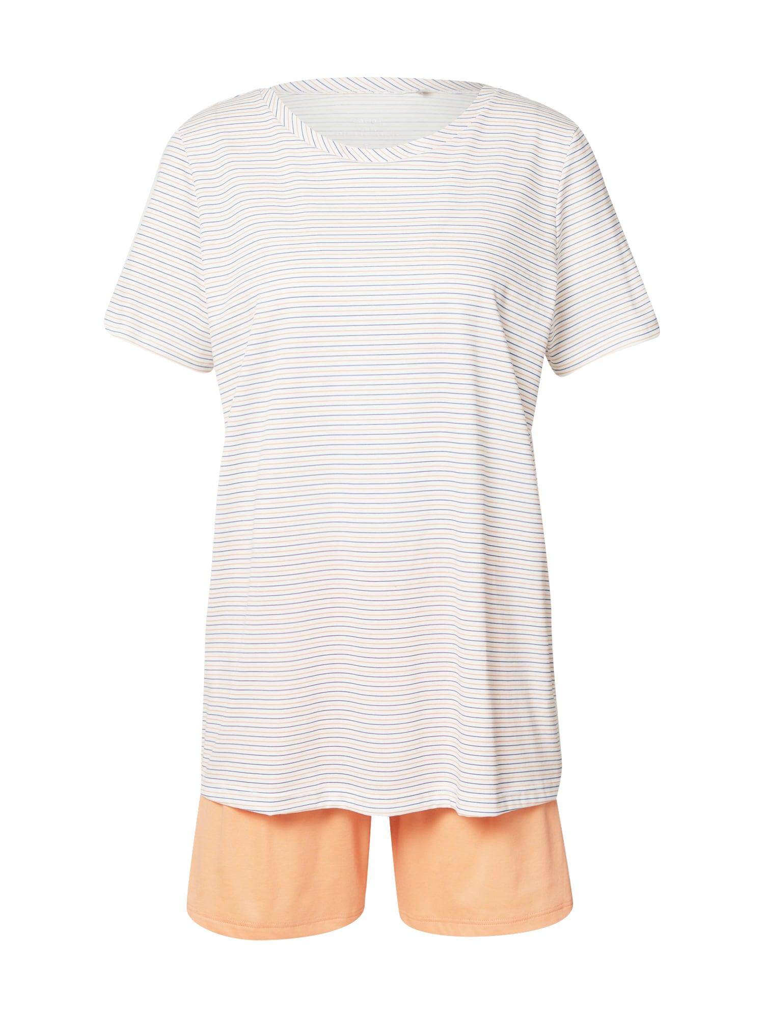 CALIDA Pyžamo  oranžová / bílá / světlemodrá
