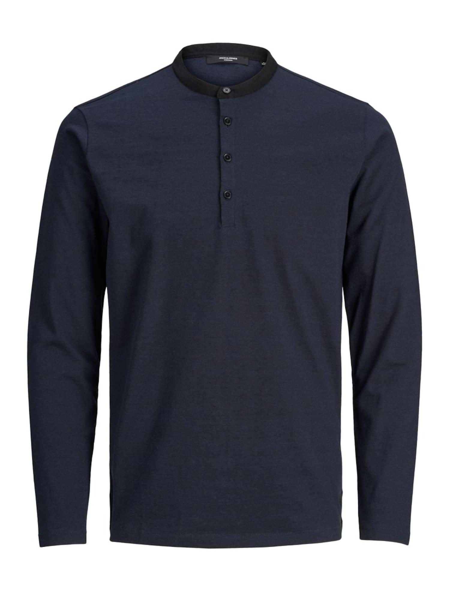 JACK & JONES Marškinėliai tamsiai mėlyna / tamsiai mėlyna