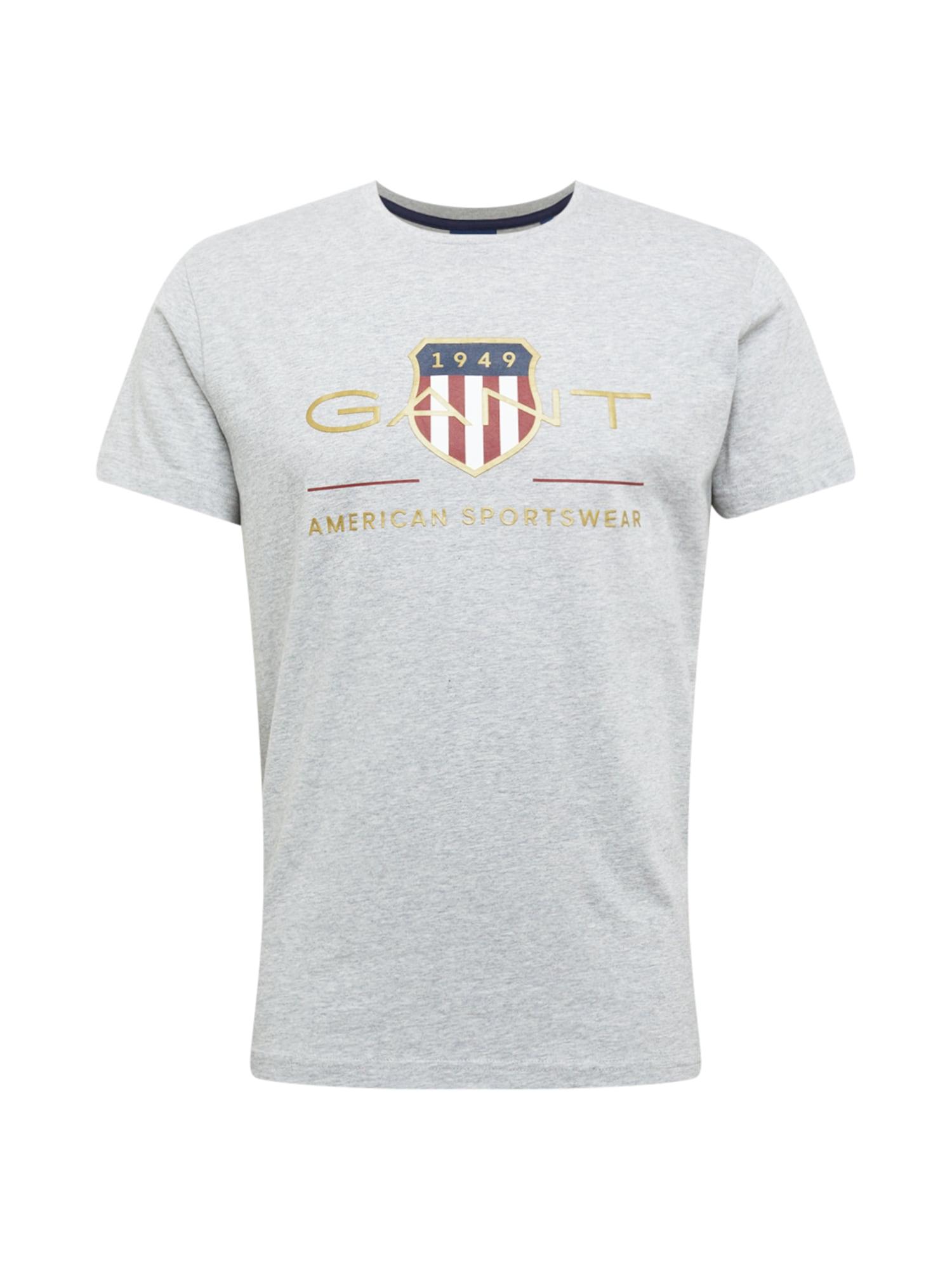 GANT Marškinėliai auksas / raudona / mėlyna / balta
