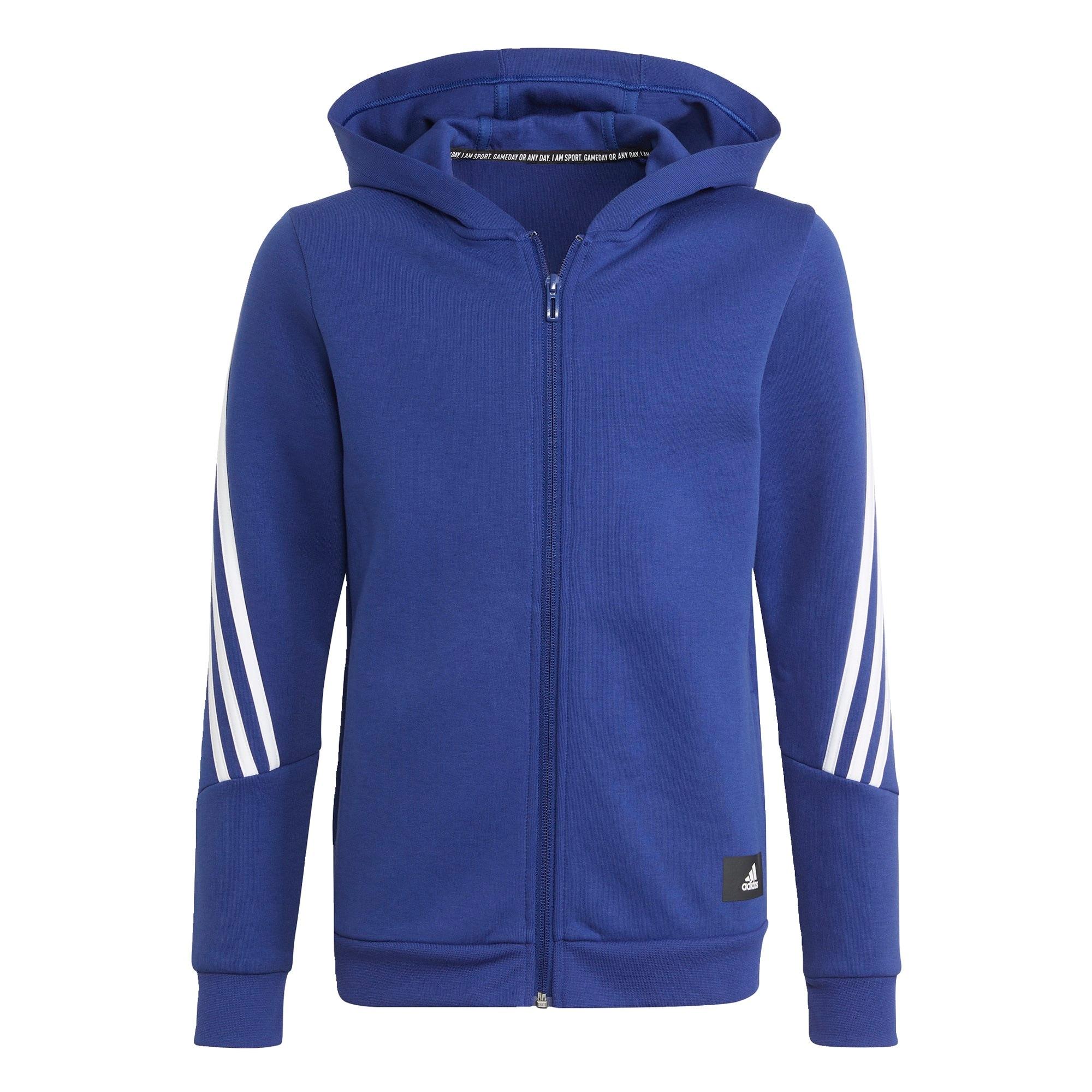 ADIDAS PERFORMANCE Sportovní svetr  modrá / bílá