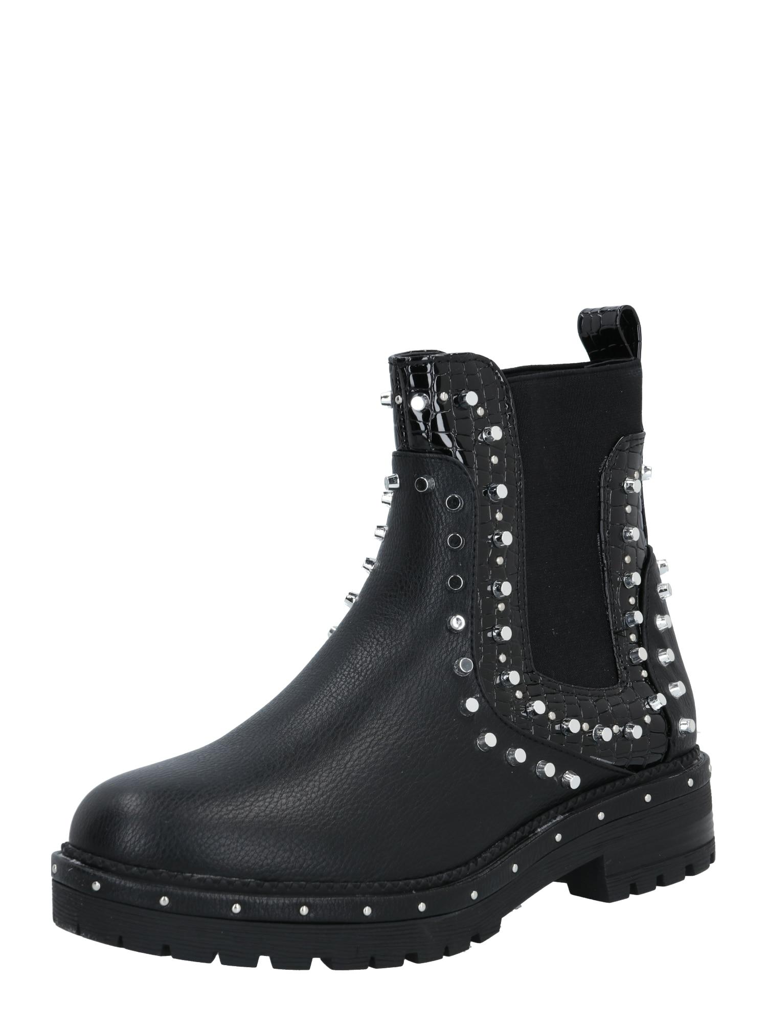 Missguided Chelsea boty  černá