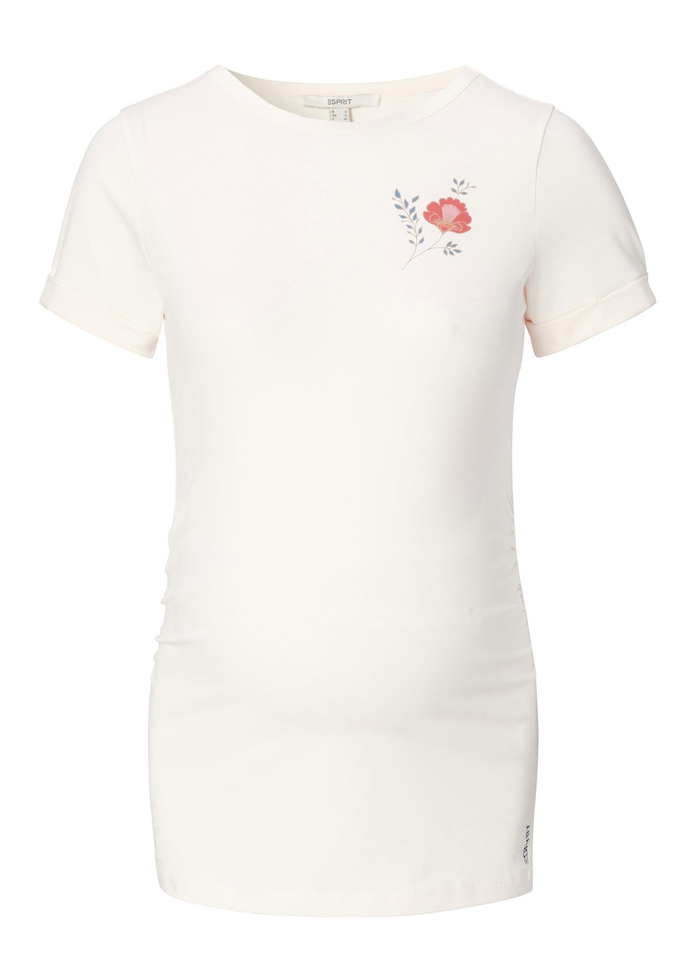Esprit Maternity Marškinėliai balta / rožių spalva