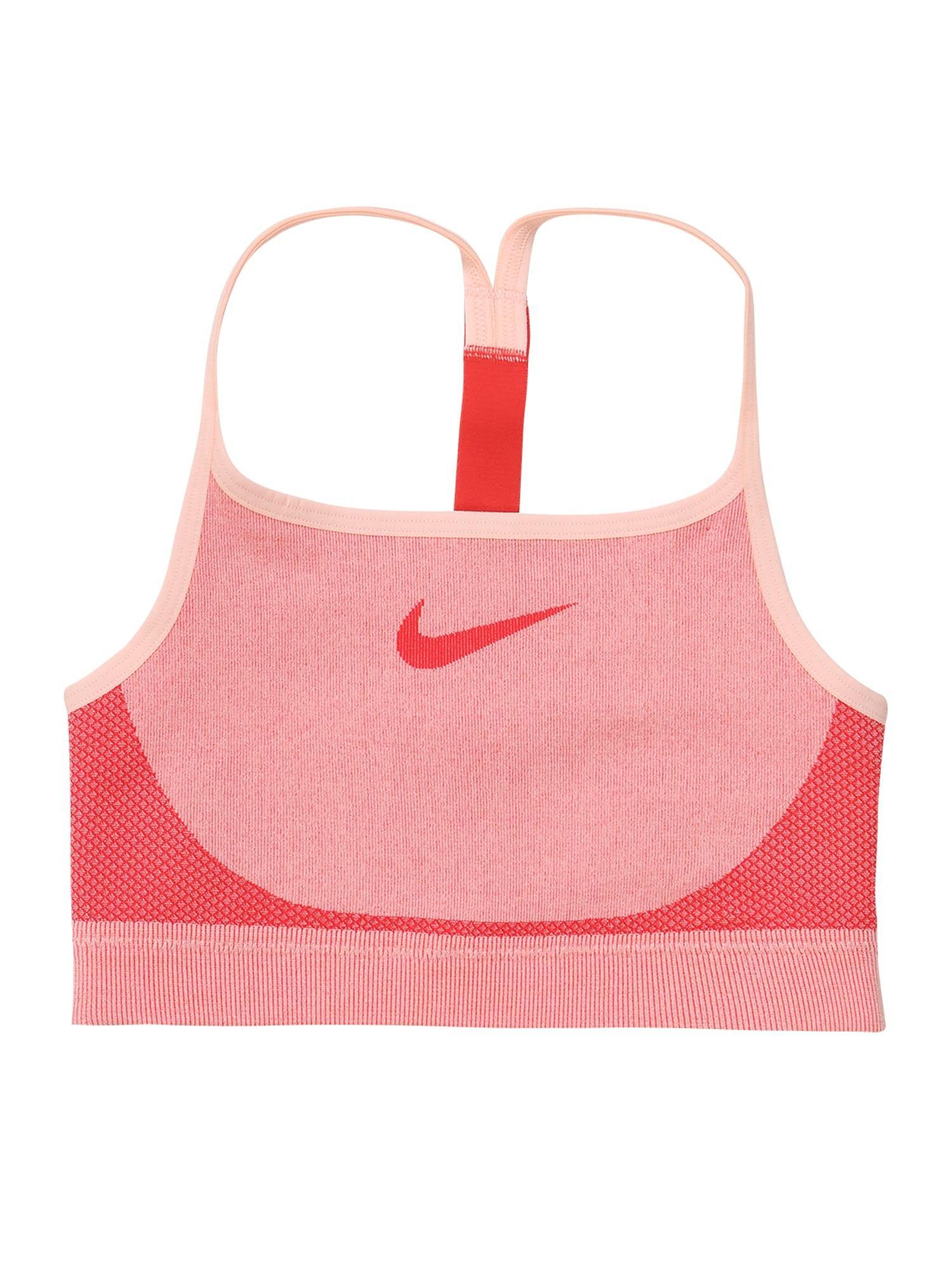 NIKE Sportinio stiliaus apatiniai drabužiai raudona / persikų spalva