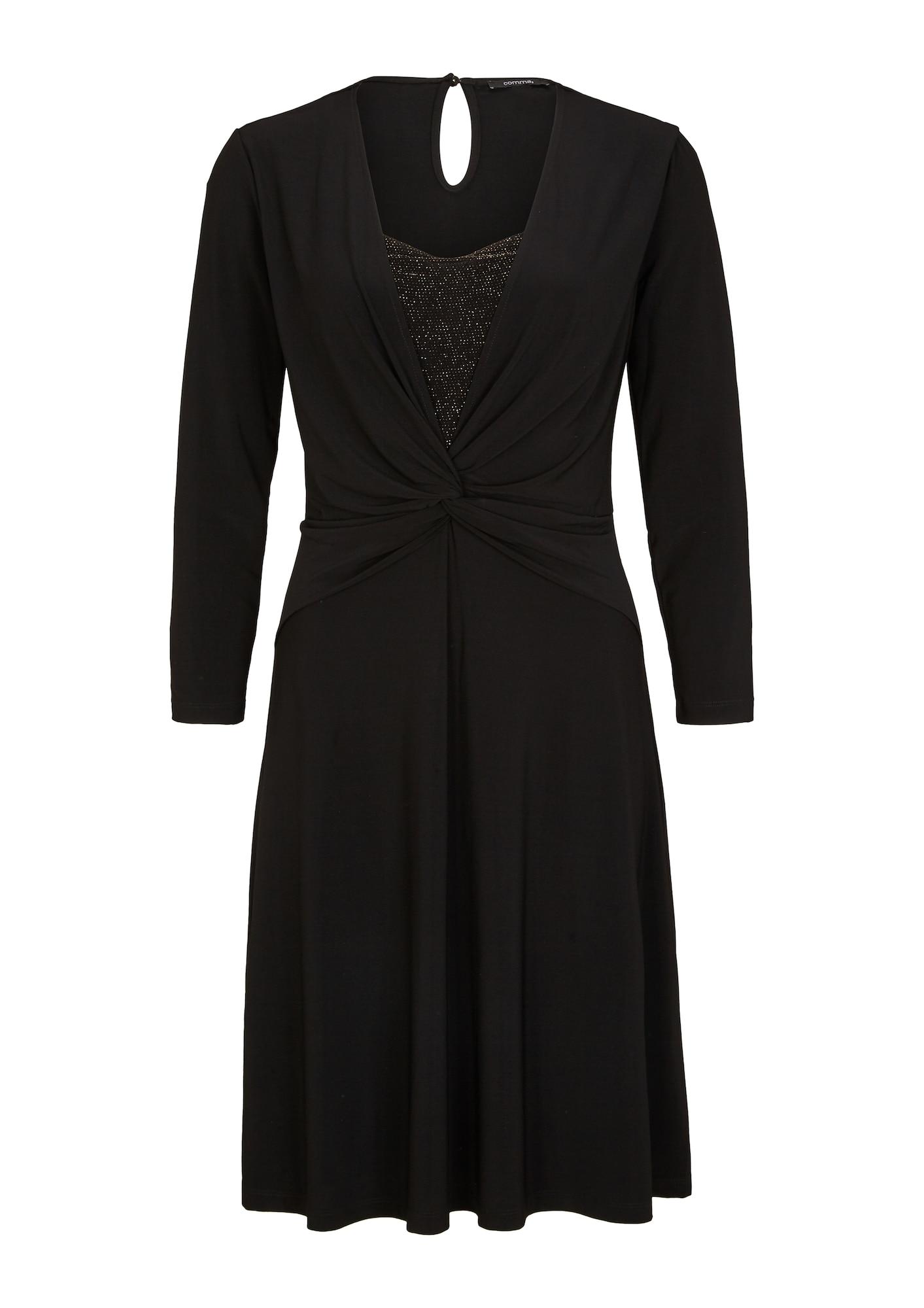 COMMA Kokteilinė suknelė juoda