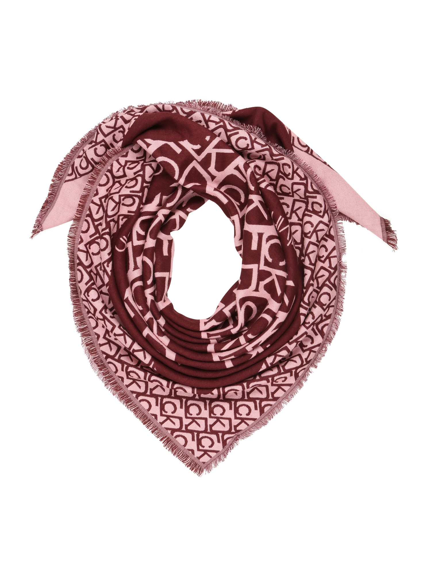 Calvin Klein Šála  vínově červená / růžová