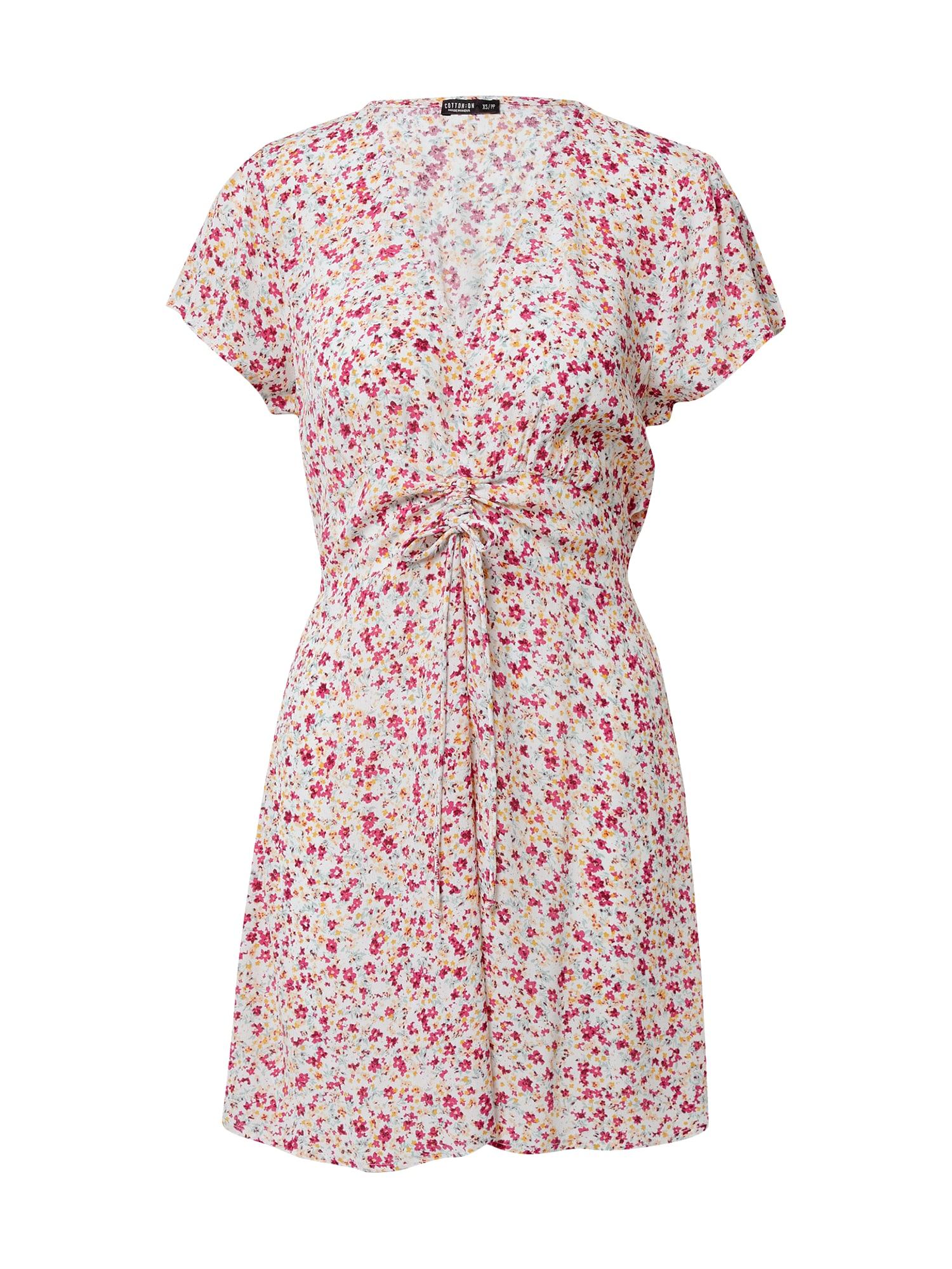 Cotton On Šaty  mix barev / bílá