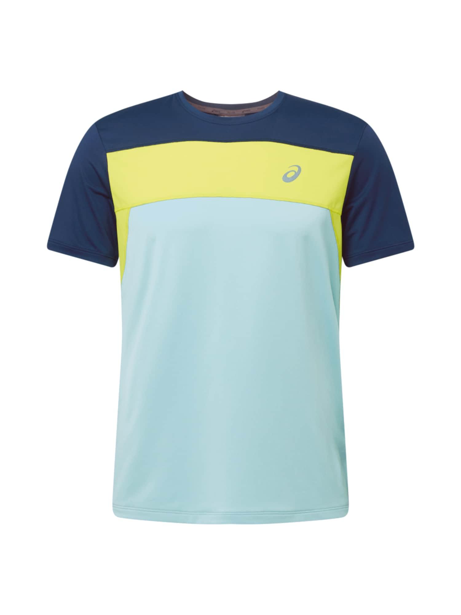 ASICS Funkční tričko 'Race'  světlemodrá / tmavě modrá / žlutá