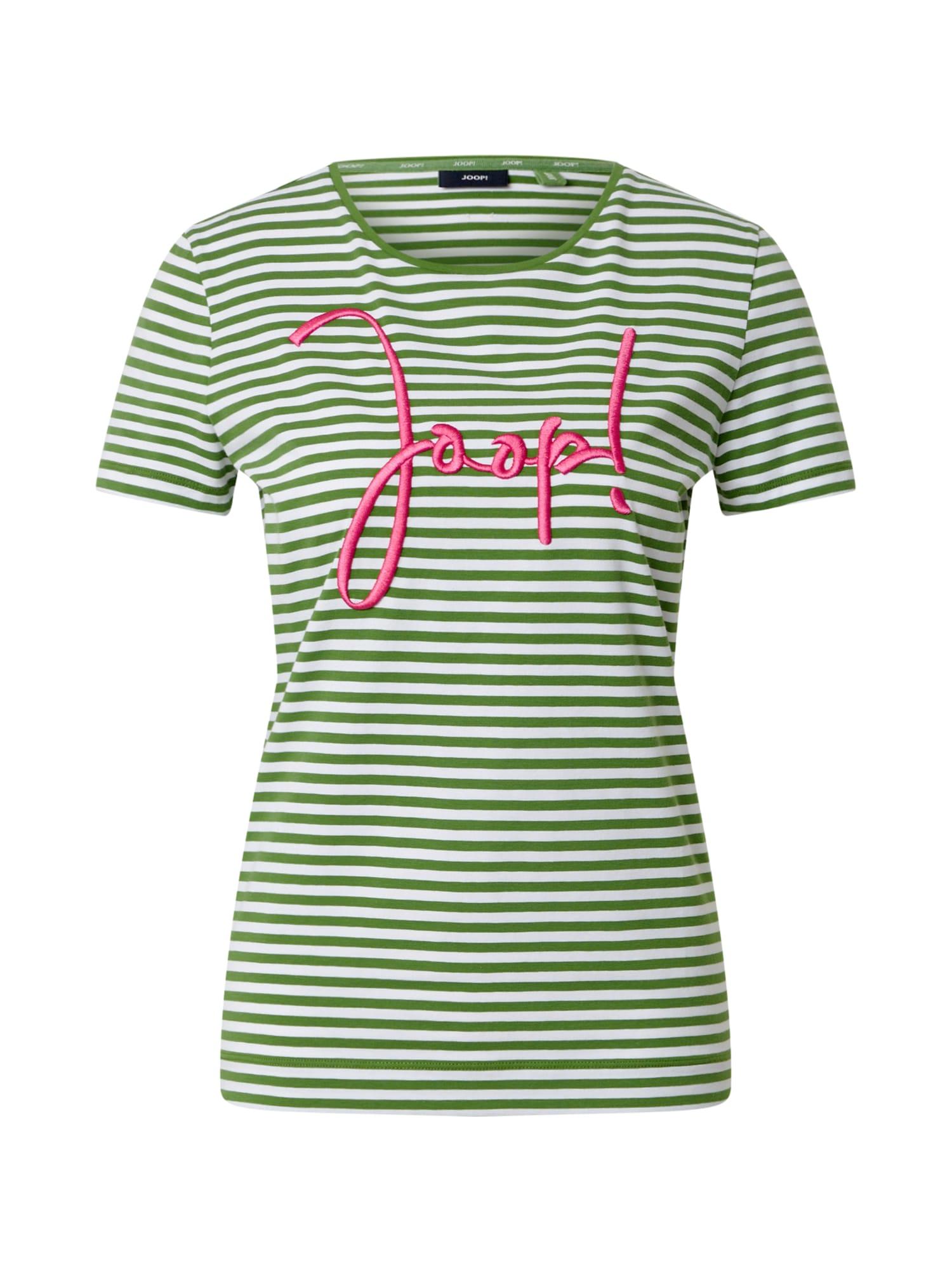 JOOP! Marškinėliai žalia / balta / fuksijų spalva