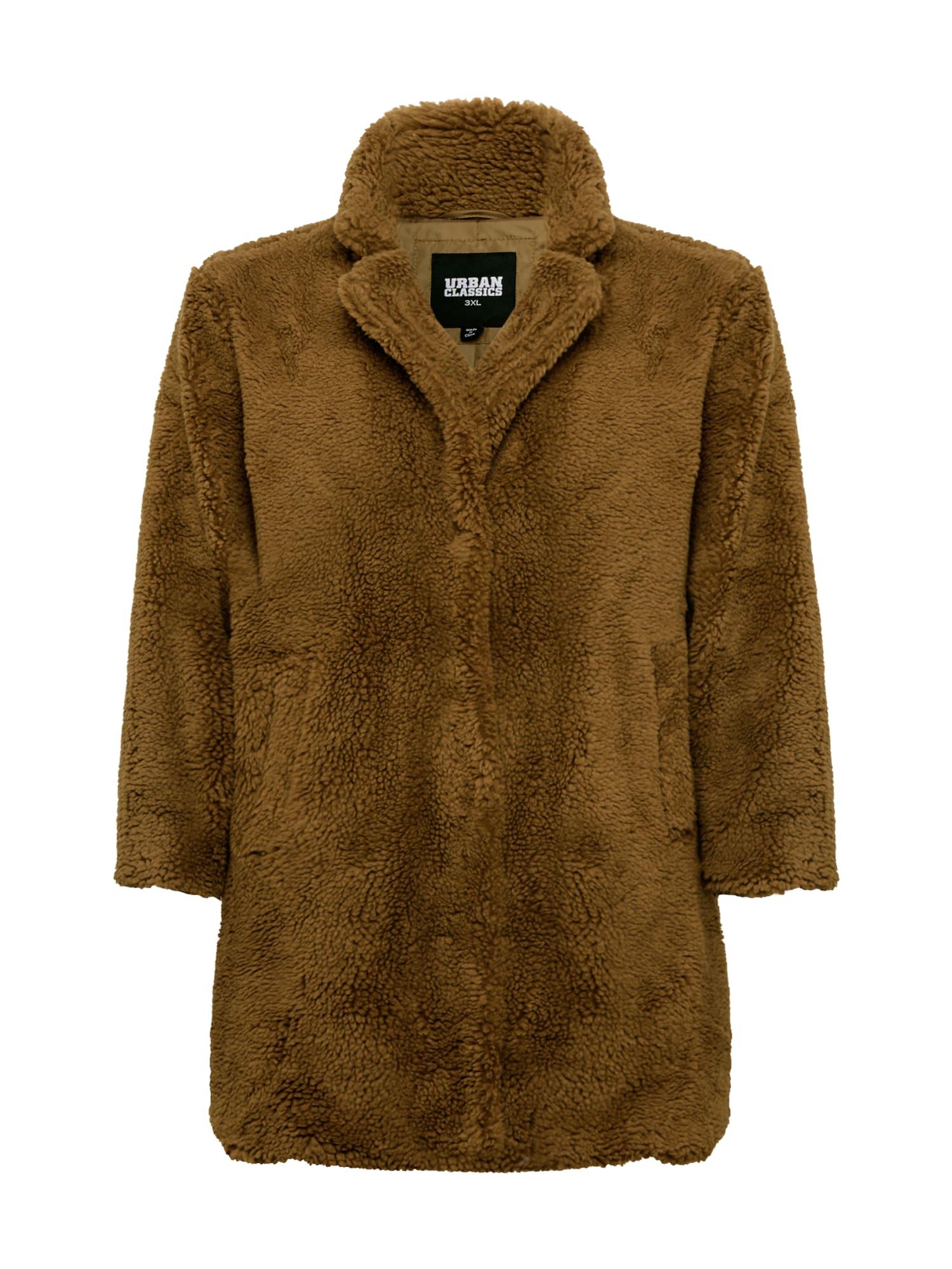 Urban Classics Curvy Zimní kabát  hnědá