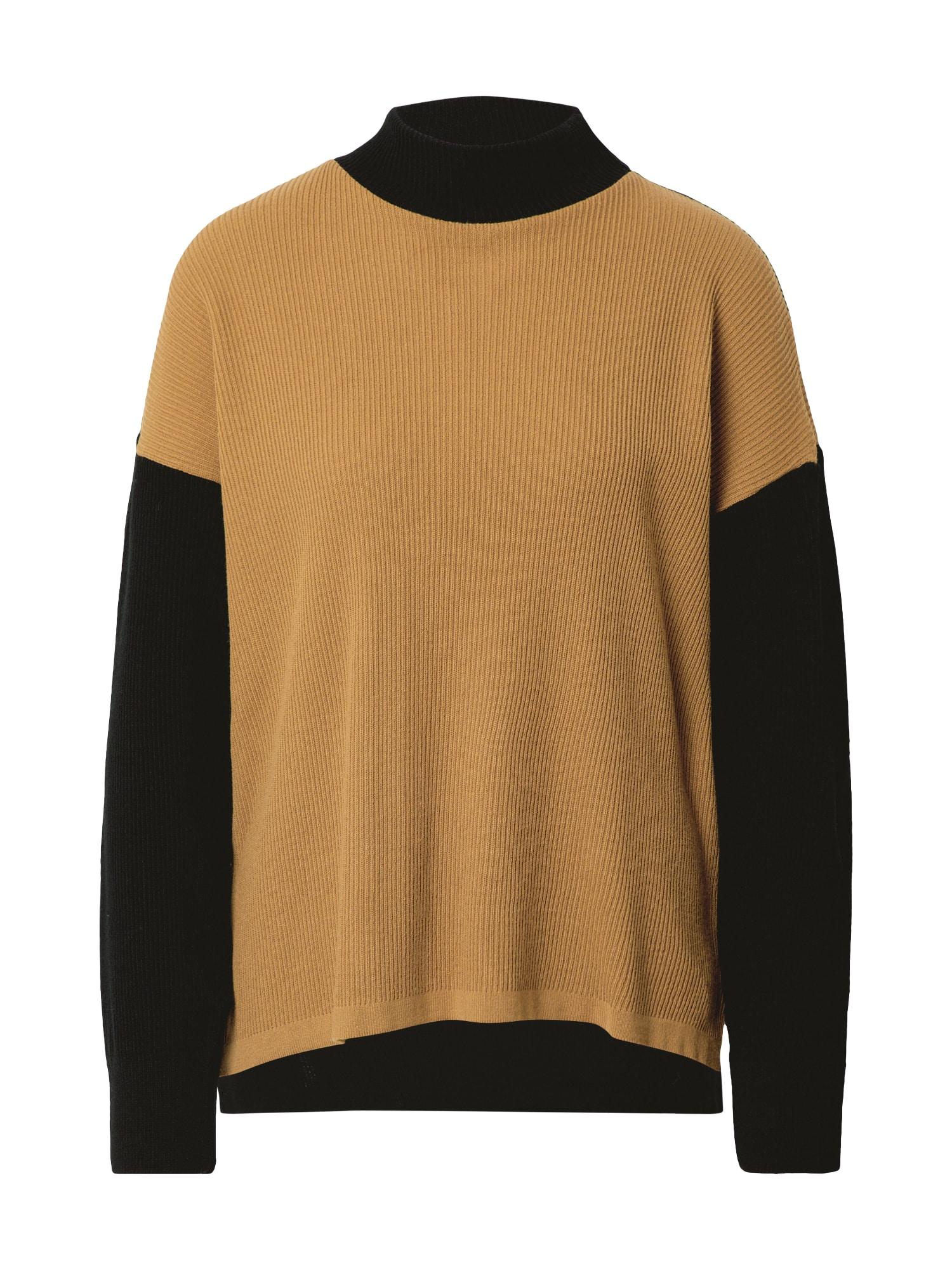 Unique21 Megztinis juoda / šviesiai ruda
