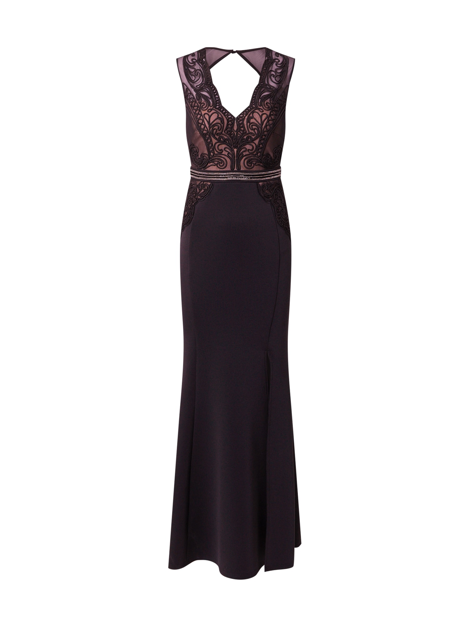 Lipsy Vakarinė suknelė juoda / pudros spalva / sidabrinė