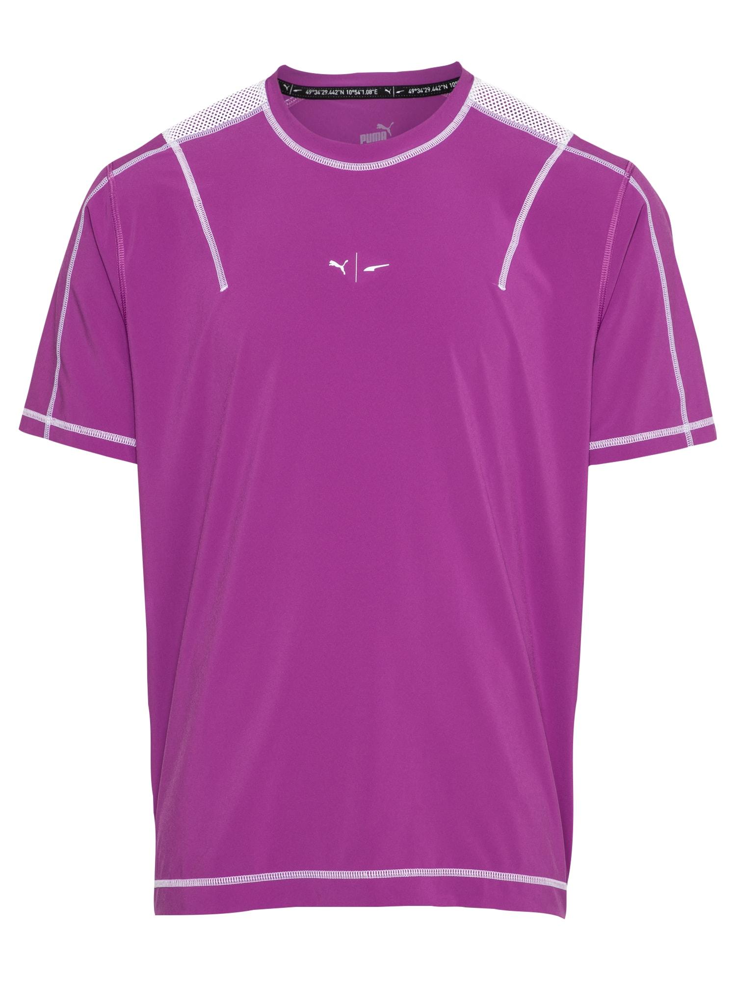 PUMA Sportiniai marškinėliai purpurinė / balta