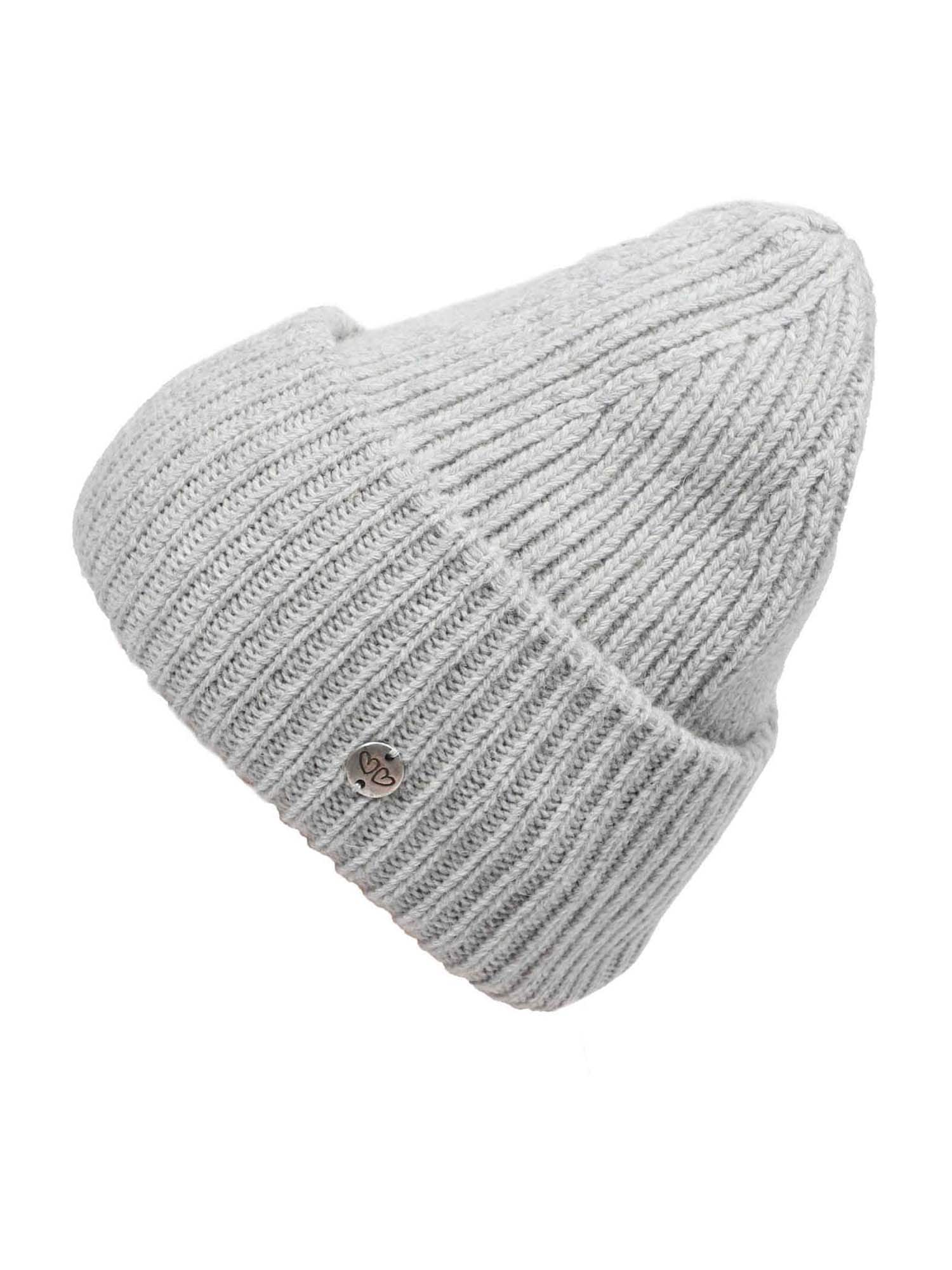 Zwillingsherz Megzta kepurė šviesiai pilka