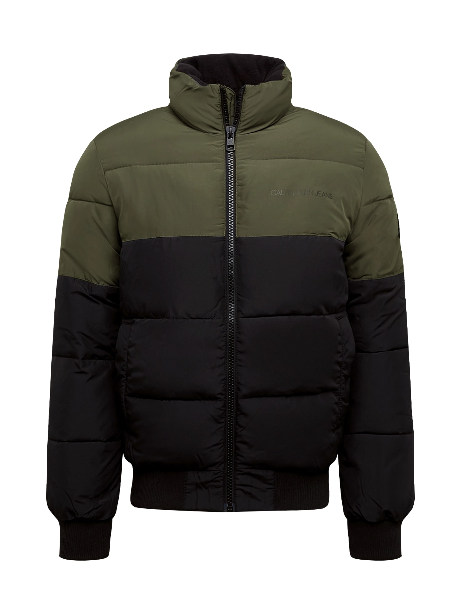 Calvin Klein Jeans Zimní bunda  černá / khaki