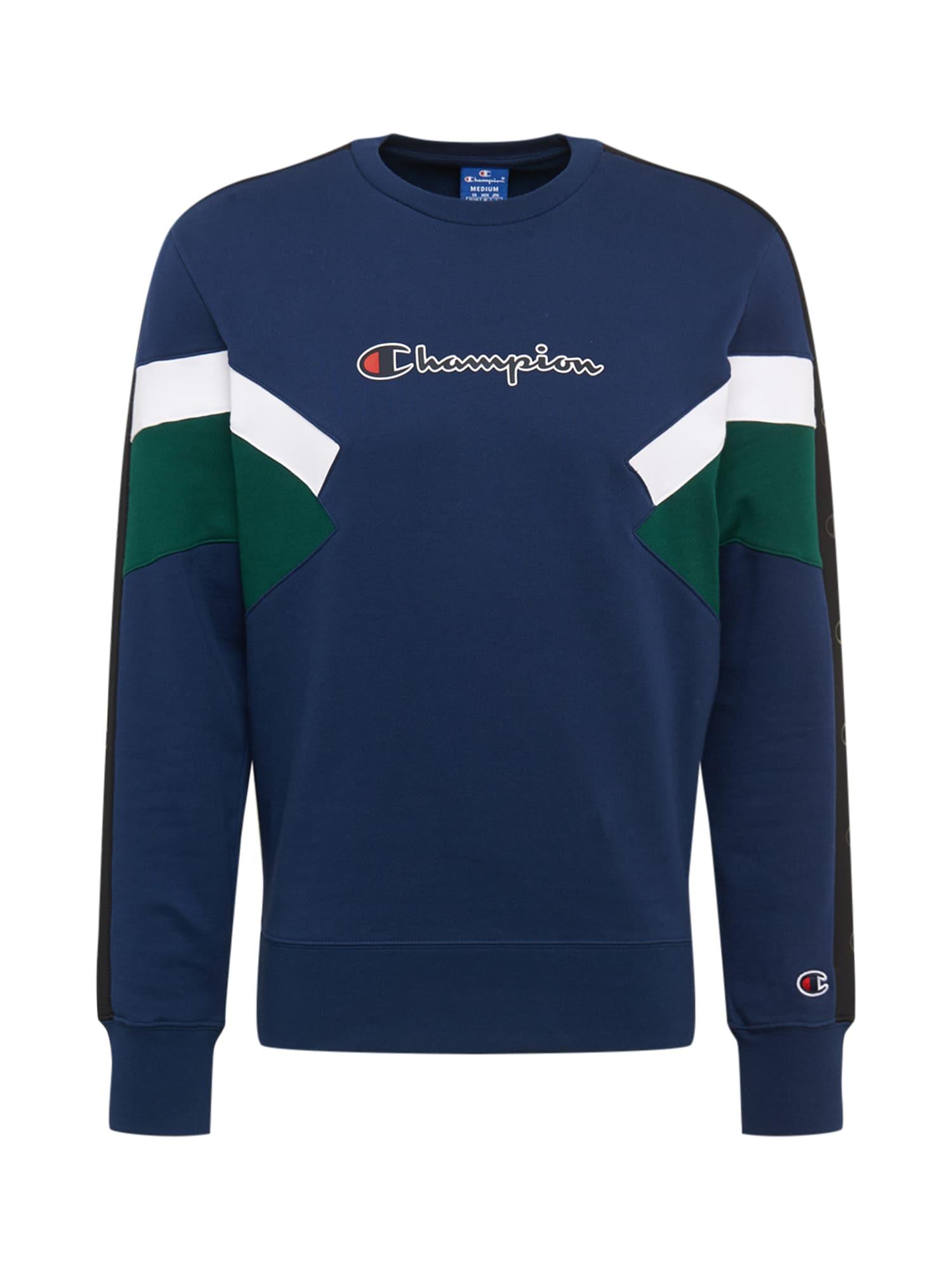 Champion Authentic Athletic Apparel Megztinis be užsegimo balta / mėlyna / žalia
