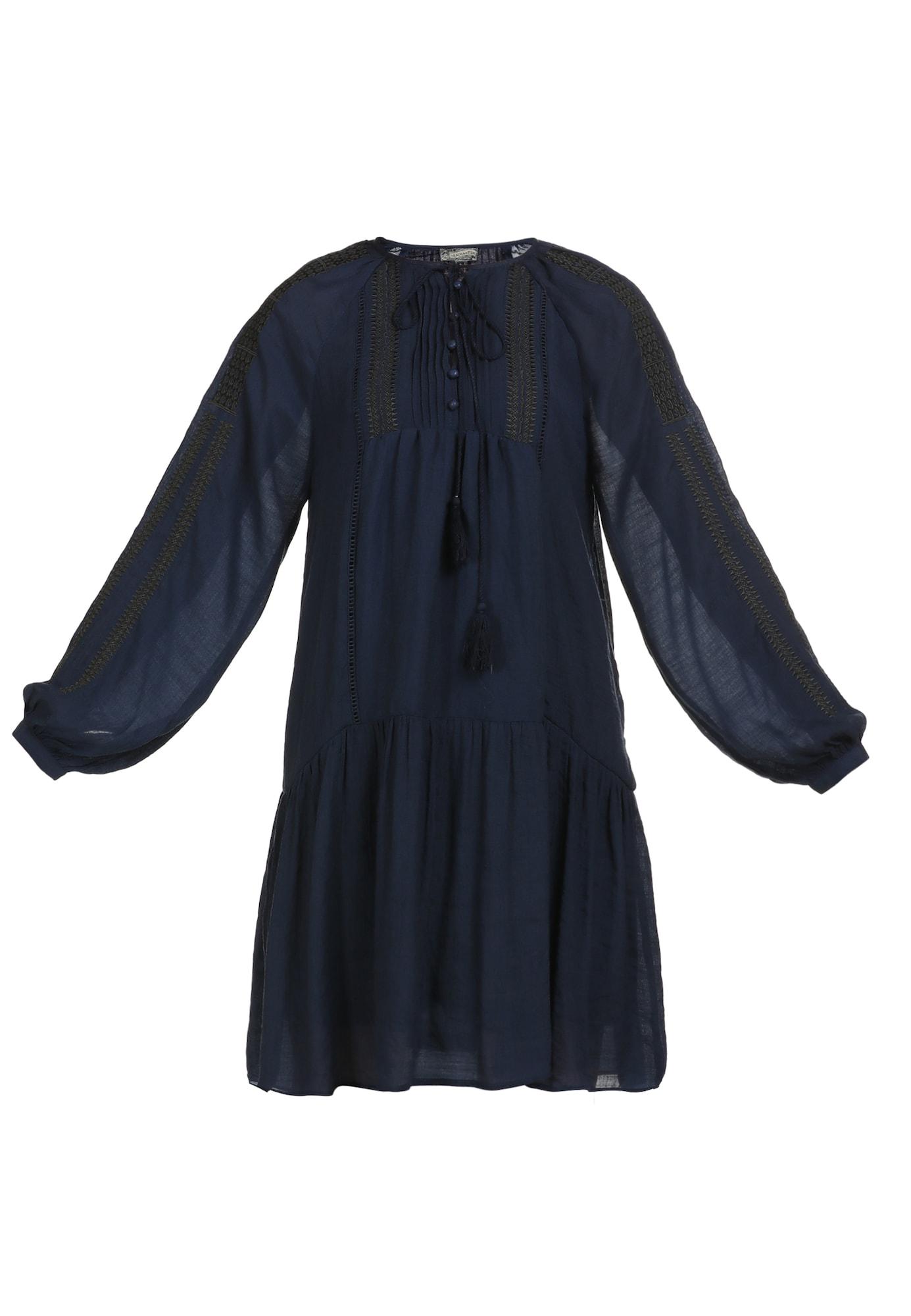 DreiMaster Vintage Palaidinės tipo suknelė tamsiai mėlyna jūros spalva