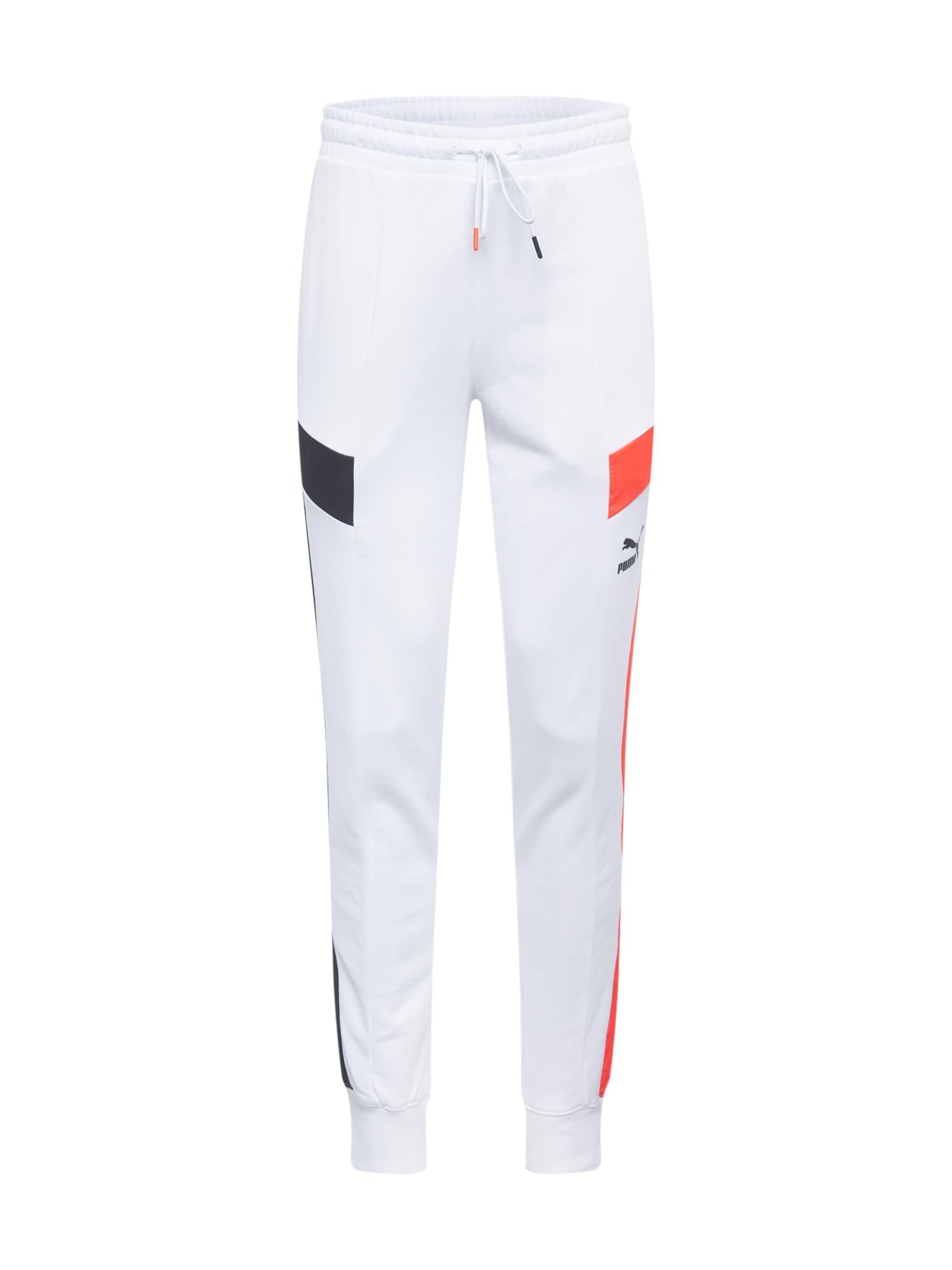 PUMA Nohavice  červená / biela / tmavomodrá