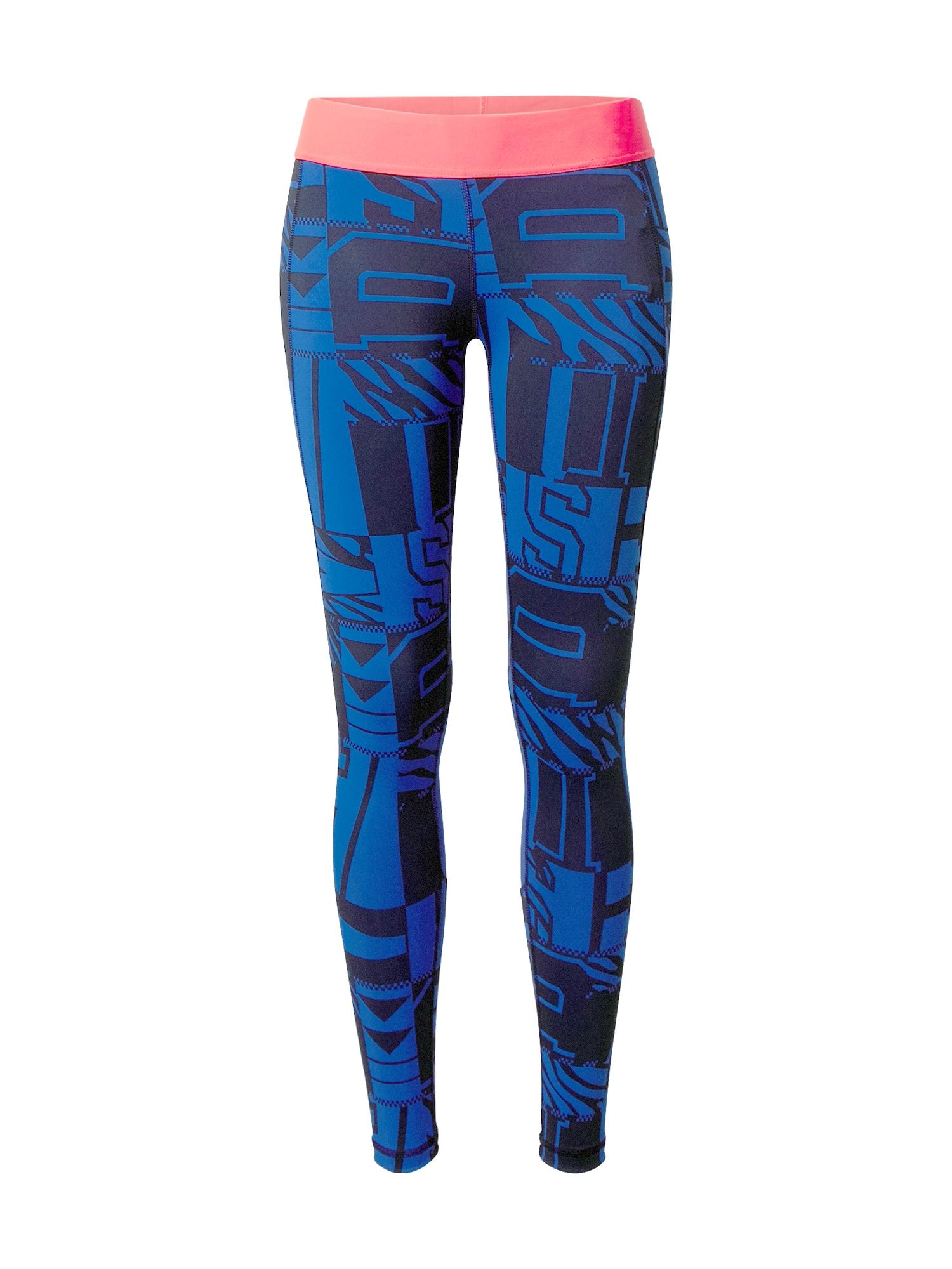 """ADIDAS PERFORMANCE Sportinės kelnės sodri mėlyna (""""karališka"""") / lašišų spalva / juoda"""