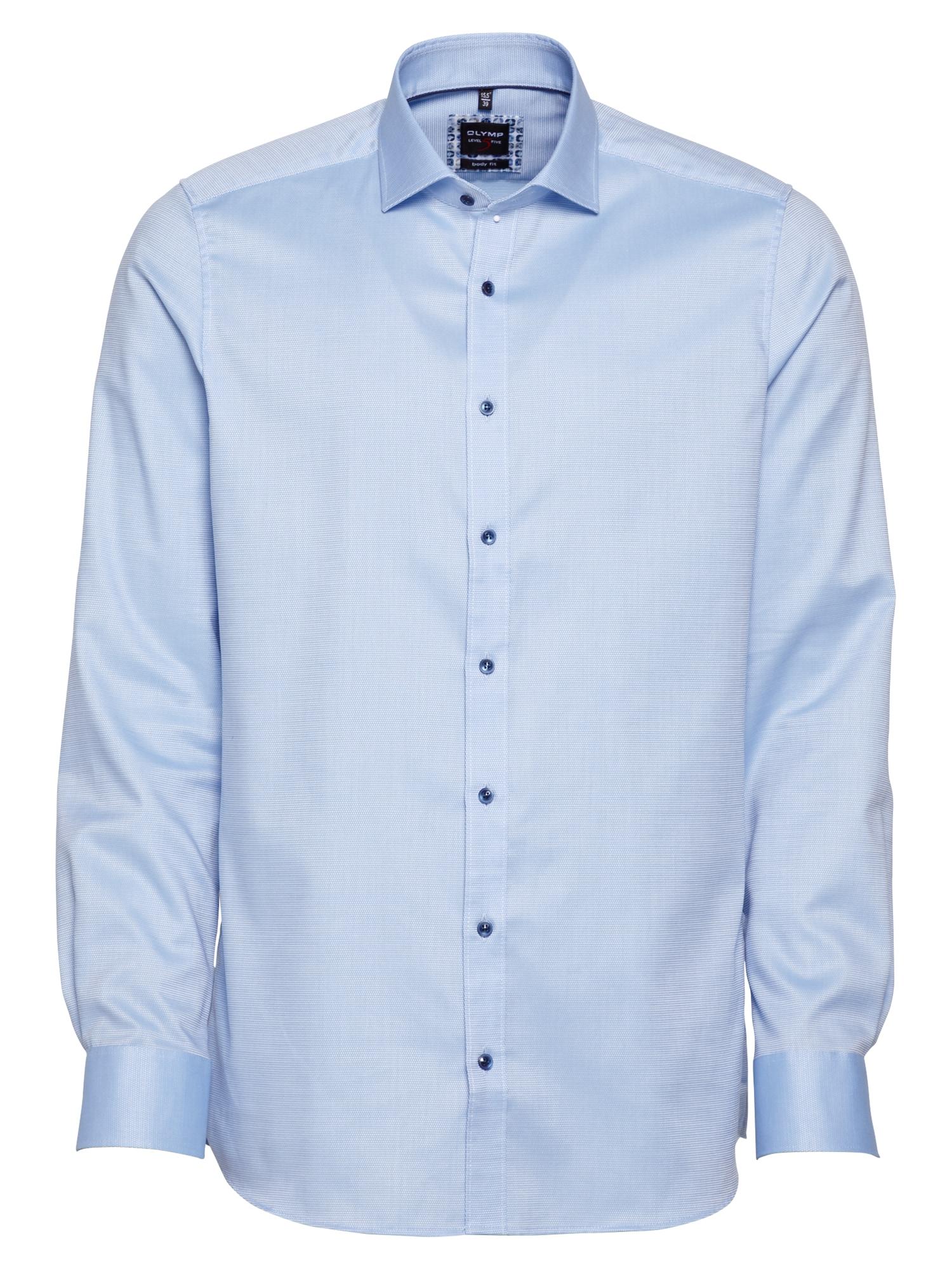 OLYMP Dalykinio stiliaus marškiniai šviesiai mėlyna