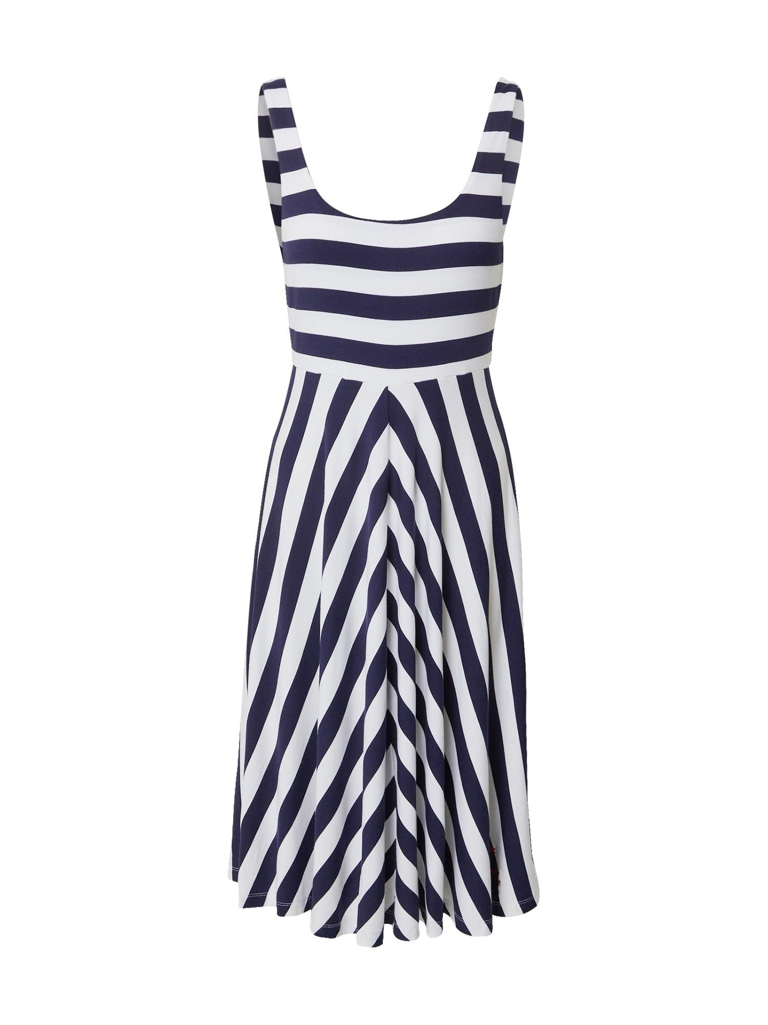 Tommy Jeans Vasarinė suknelė balta / tamsiai mėlyna