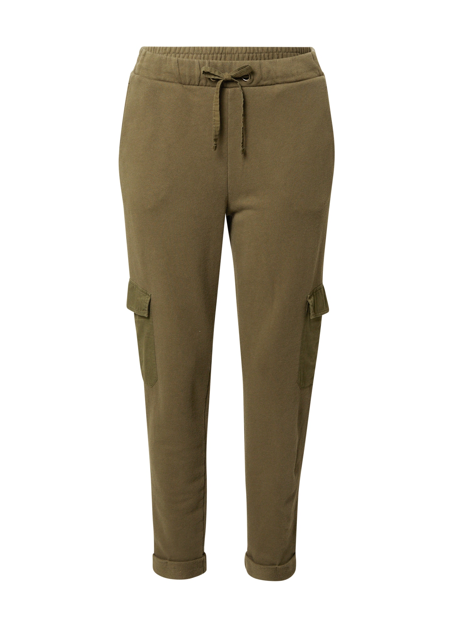 EDC BY ESPRIT Laisvo stiliaus kelnės rusvai žalia