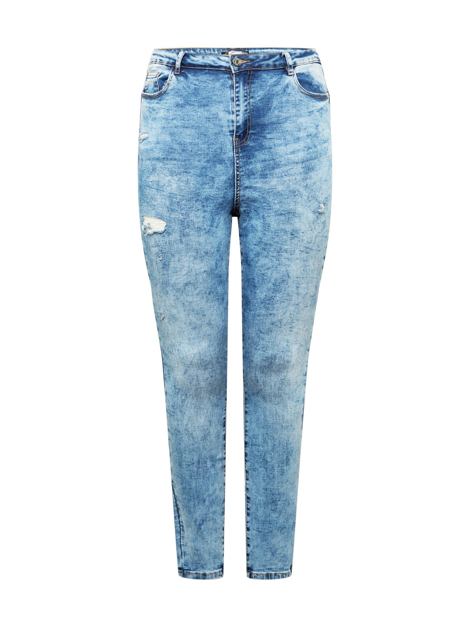 Missguided Plus Džinsai tamsiai (džinso) mėlyna