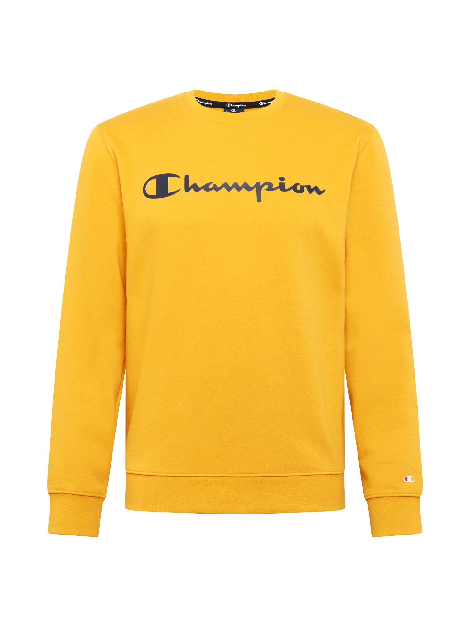 Champion Authentic Athletic Apparel Megztinis be užsegimo juoda / geltona