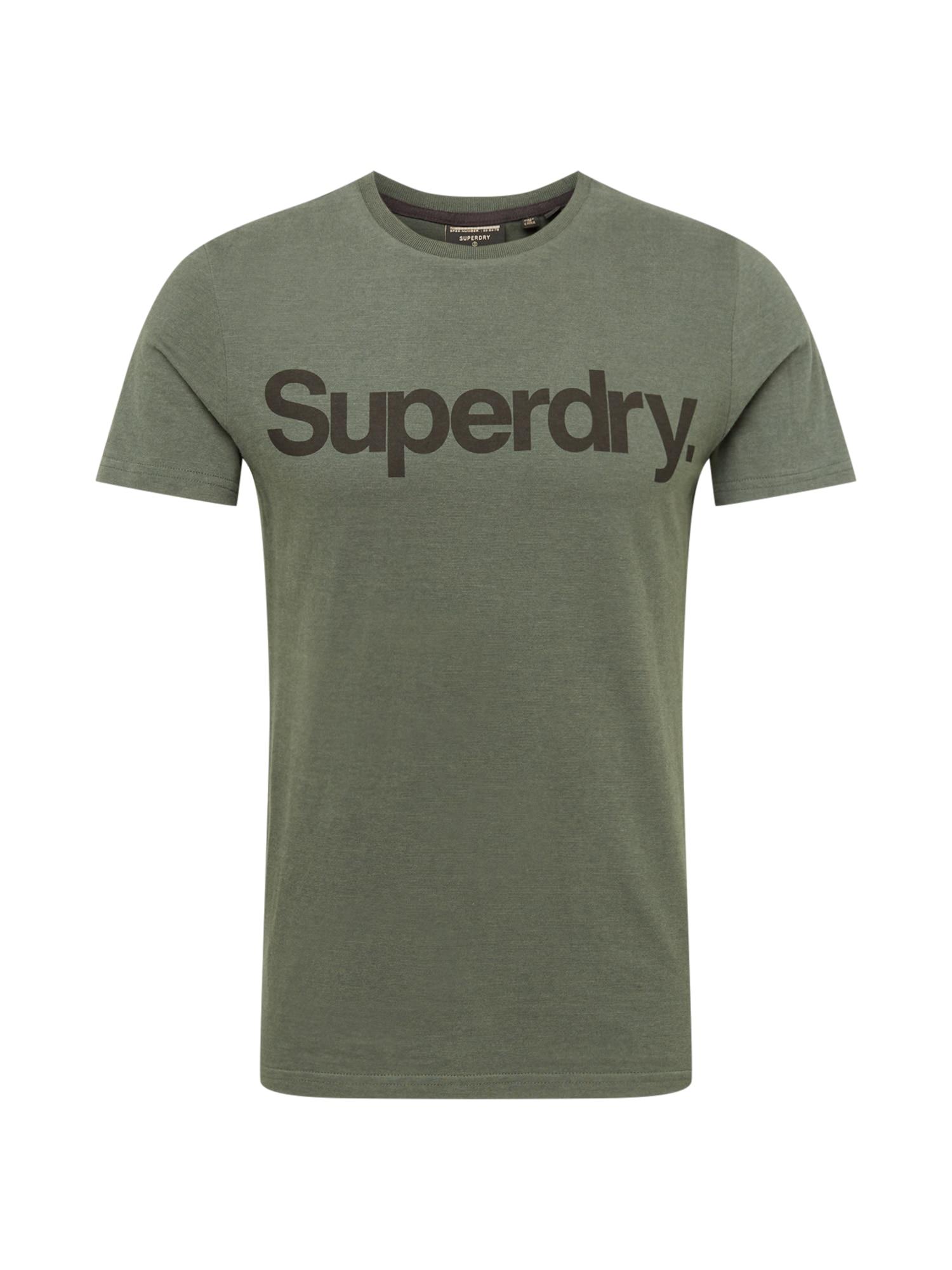 Superdry Tričko 'MILITARY'  khaki / černá