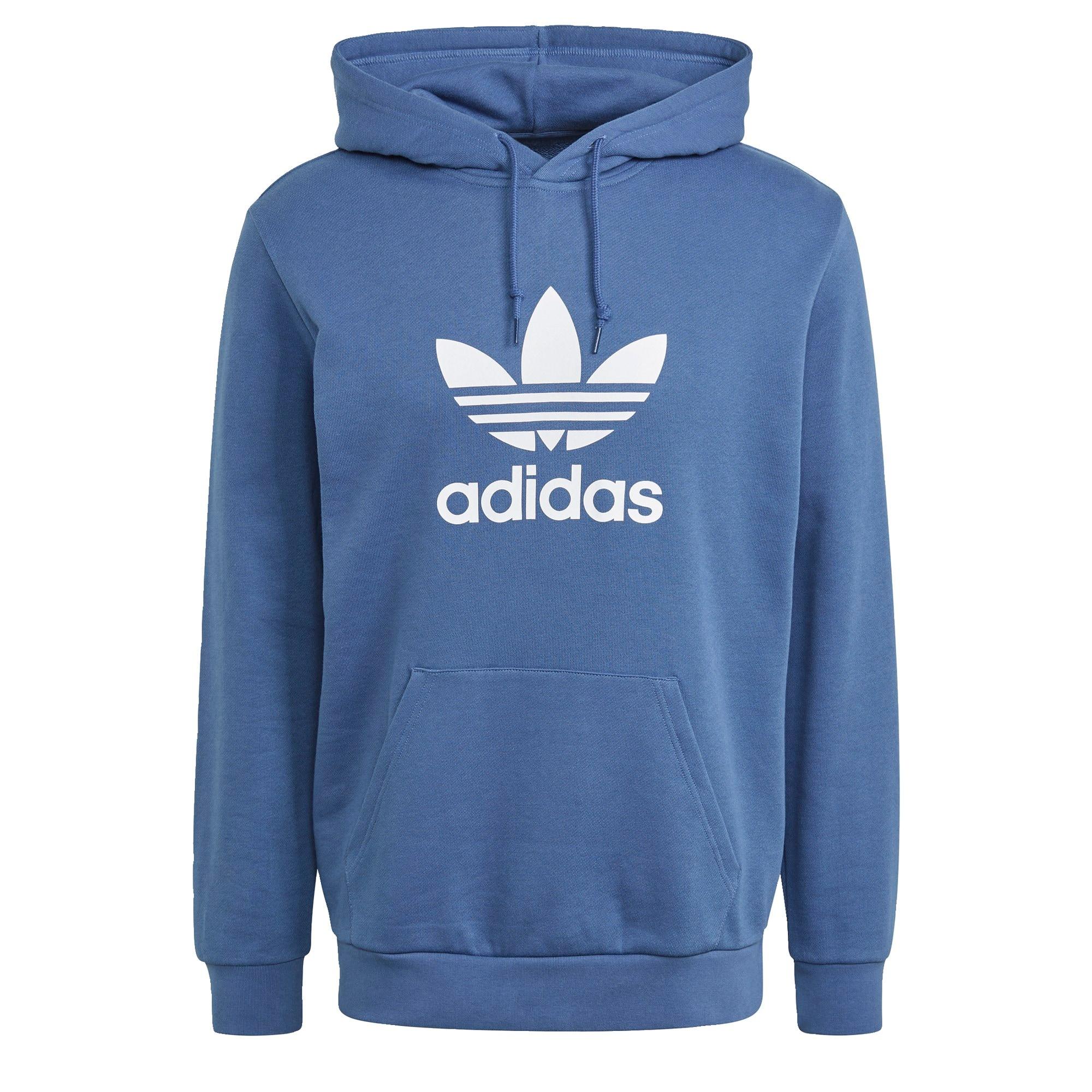 ADIDAS ORIGINALS Megztinis be užsegimo balta / mėlyna dūmų spalva