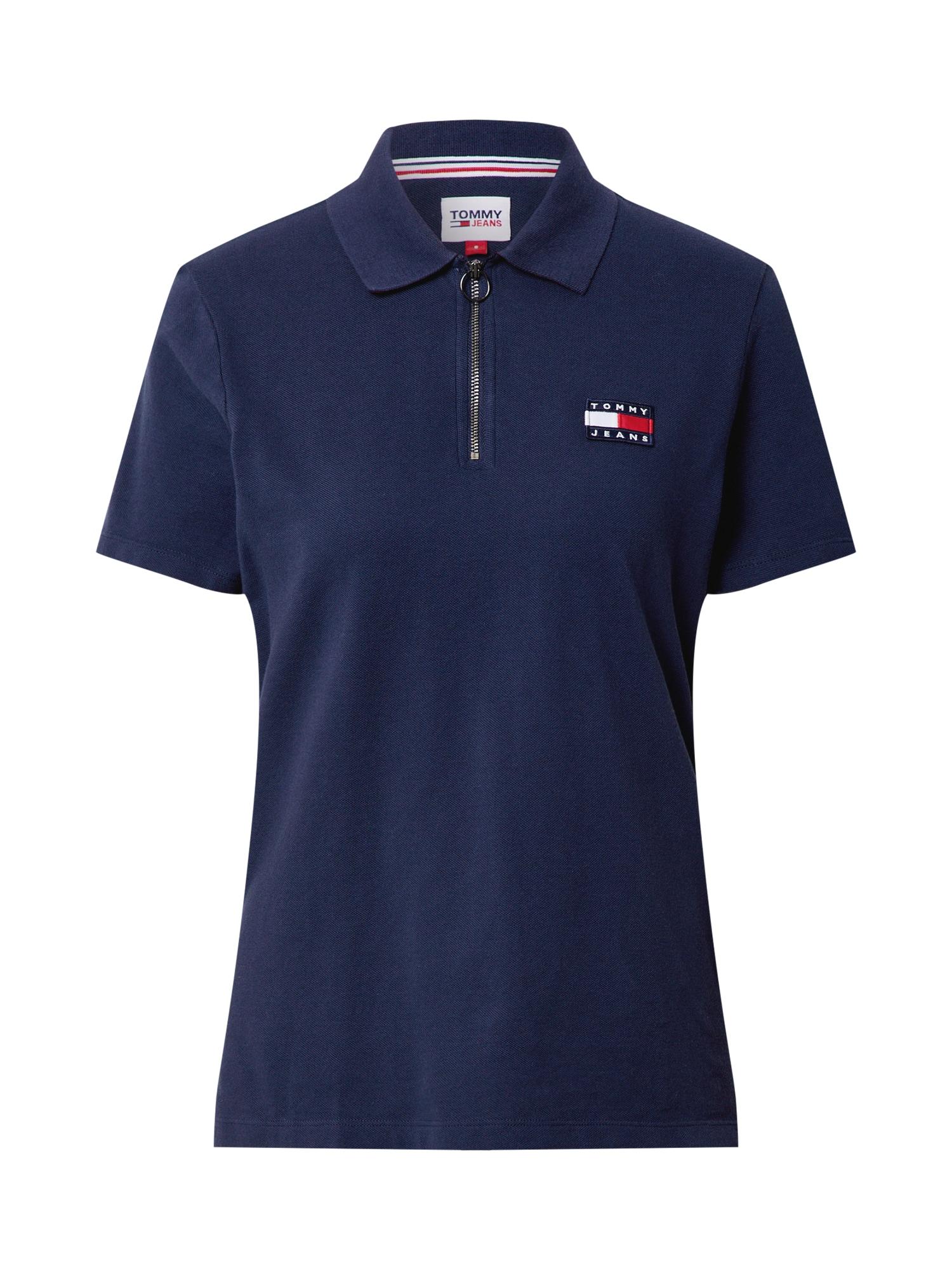 Tommy Jeans Marškinėliai tamsiai mėlyna / balta / šviesiai raudona