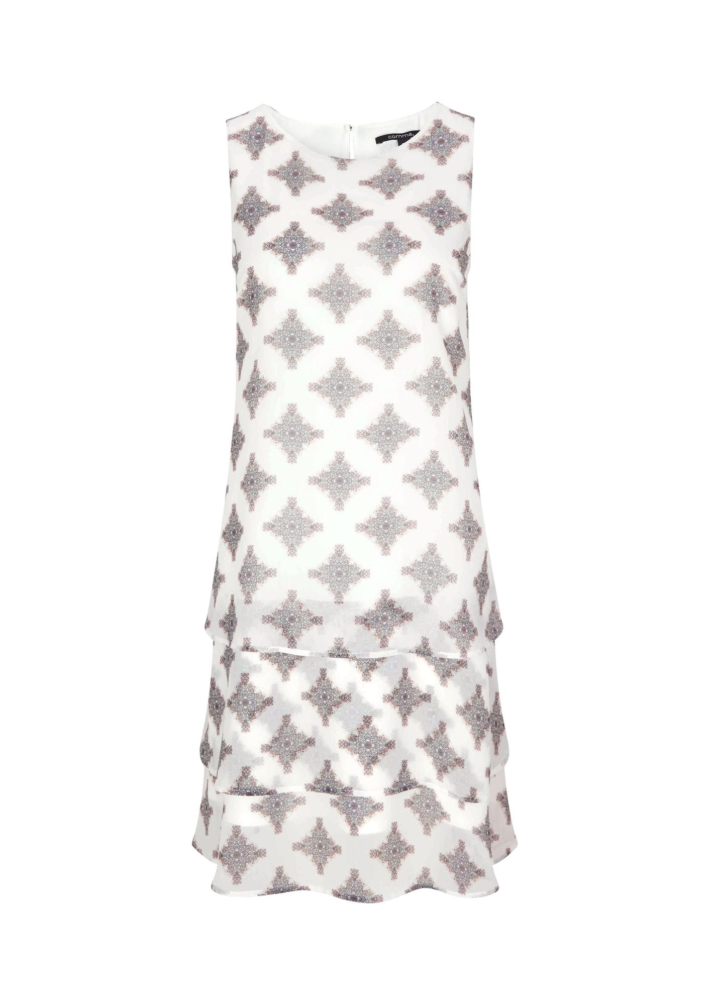 COMMA Kokteilinė suknelė balta / pilka / smėlio