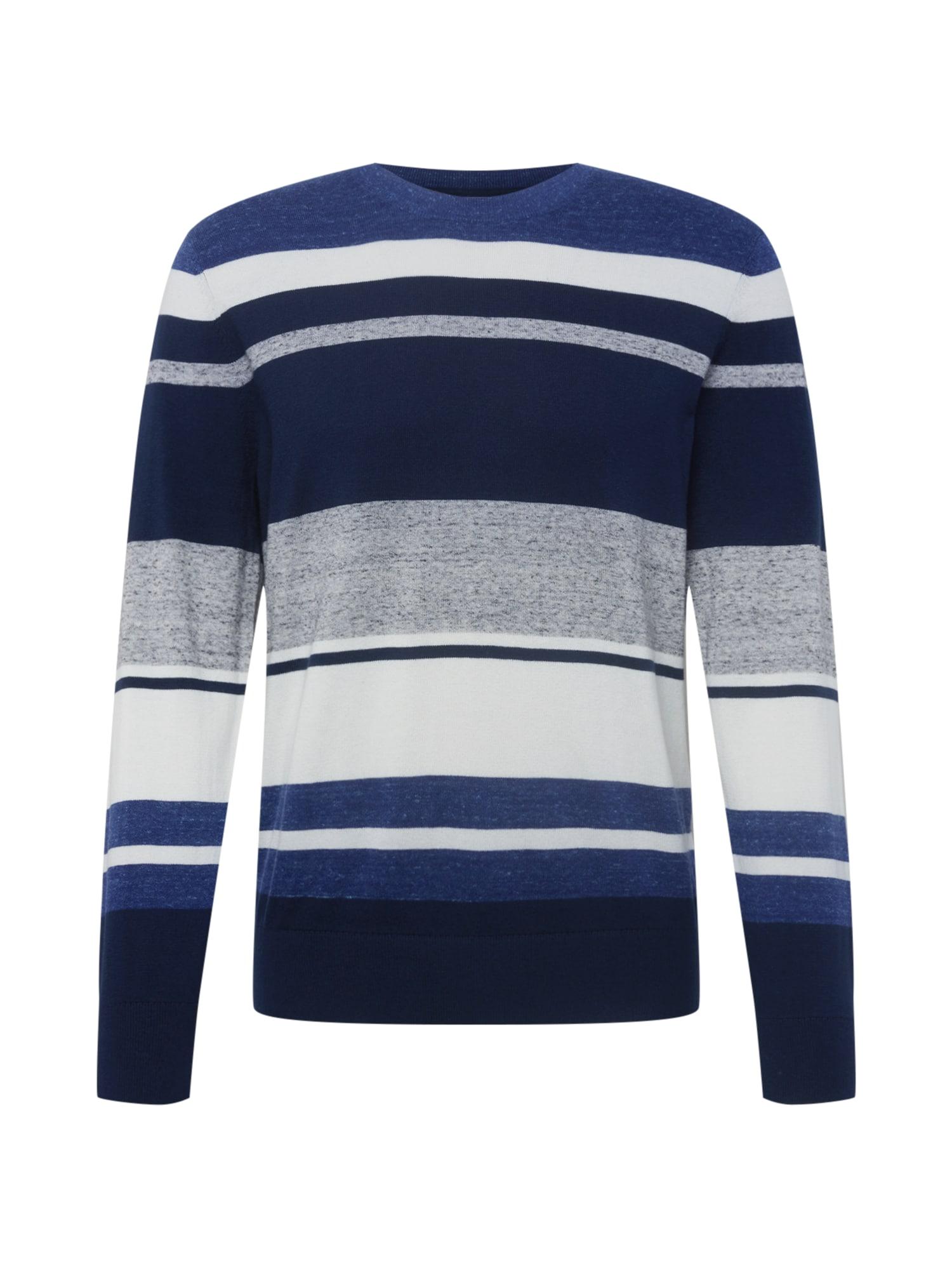 GAP Svetr  námořnická modř / bílá / marine modrá / světle šedá