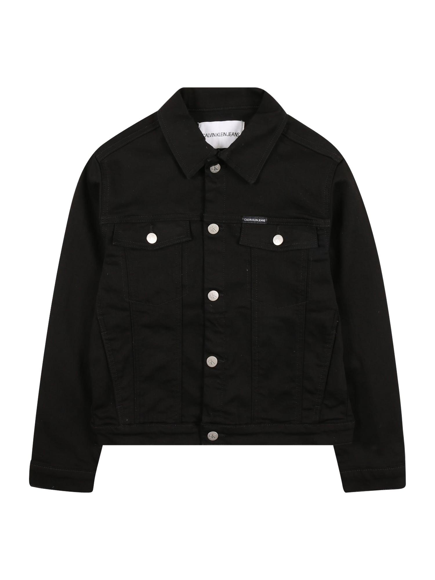 Calvin Klein Jeans Demisezoninė striukė juoda / balta