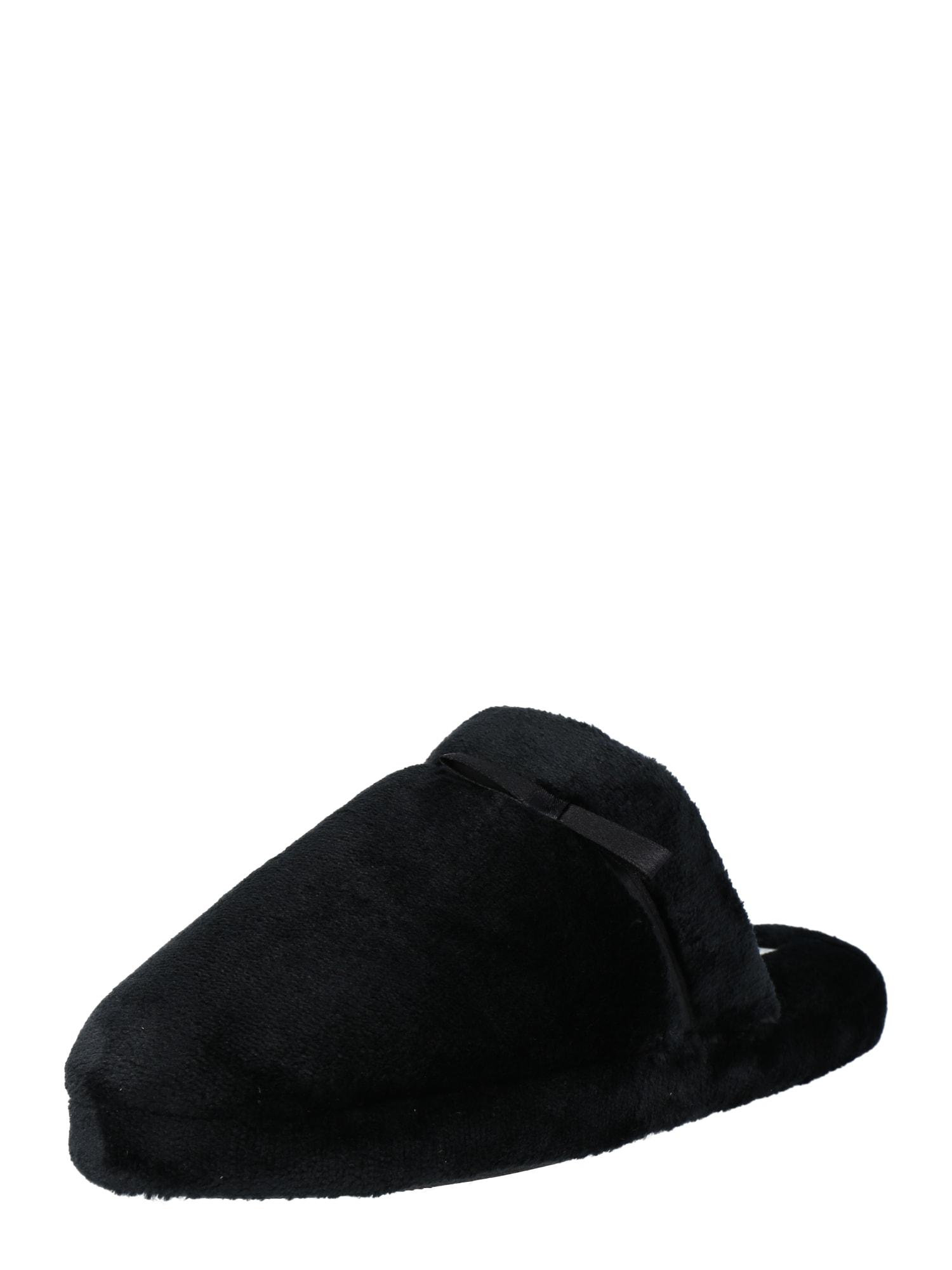 TOM TAILOR Naminės šlepetės juoda
