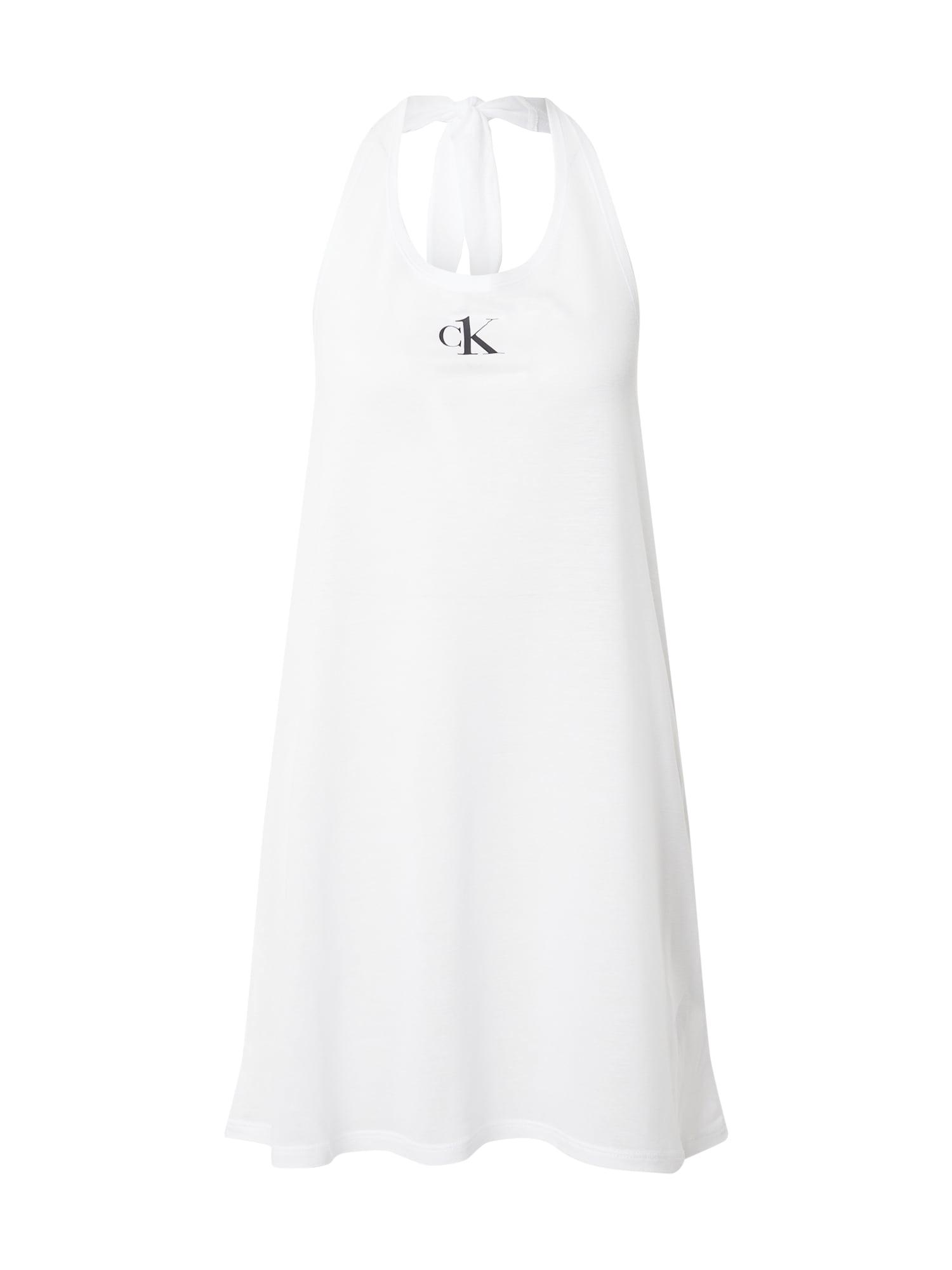 Calvin Klein Swimwear Paplūdimio suknelė balta / juoda