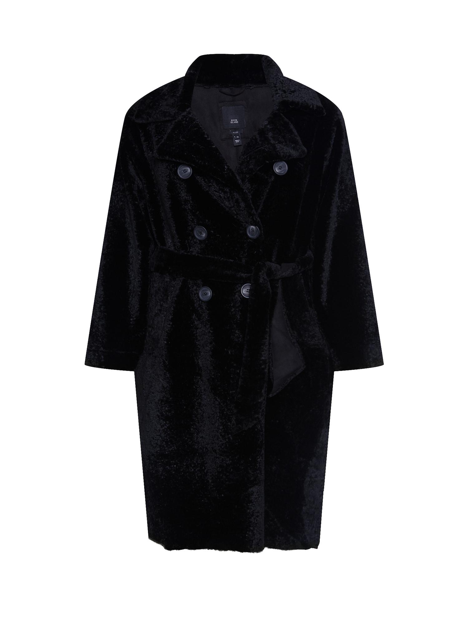 River Island Plus Demisezoninis paltas juoda