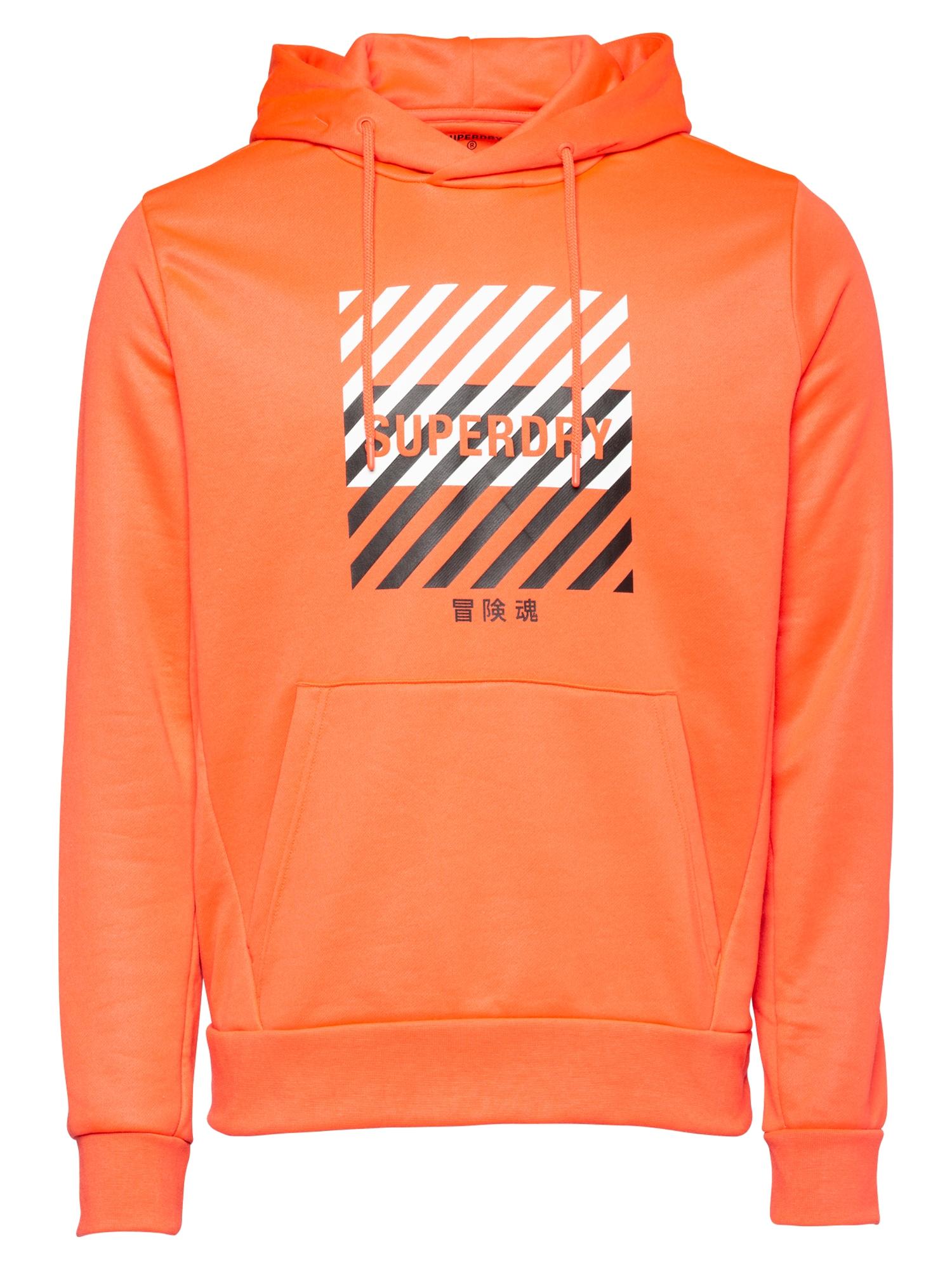 Superdry Sportinio tipo megztinis oranžinė / balta / juoda