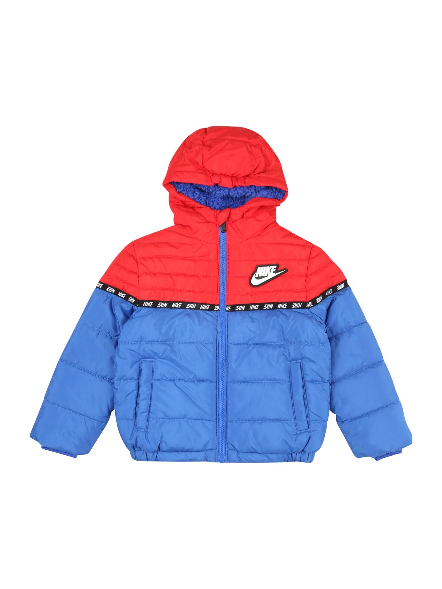 """Nike Sportswear Žieminė striukė sodri mėlyna (""""karališka"""") / šviesiai raudona / juoda / balta"""