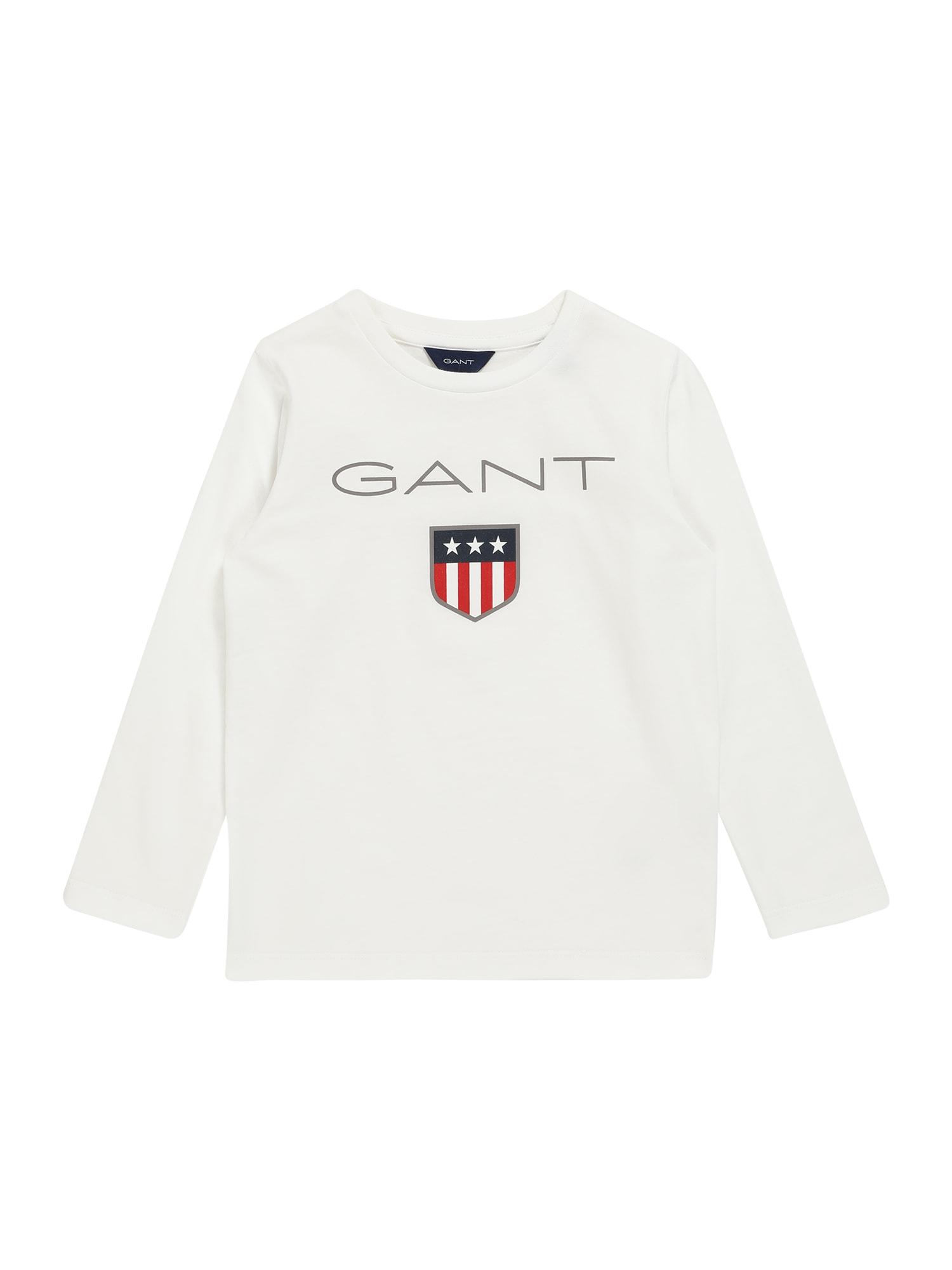 GANT Marškinėliai balta / raudona / tamsiai mėlyna / pilka