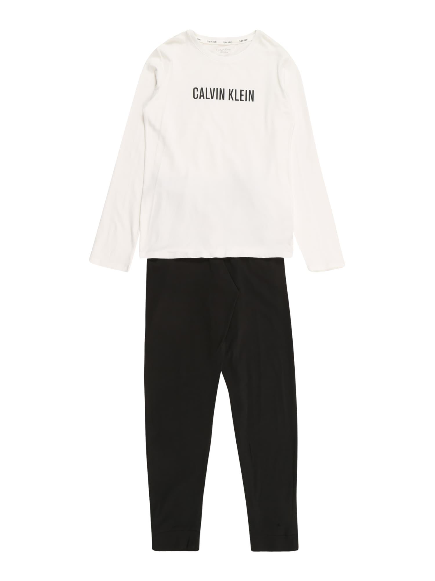 Calvin Klein Underwear Pyžamo  bílá / černá