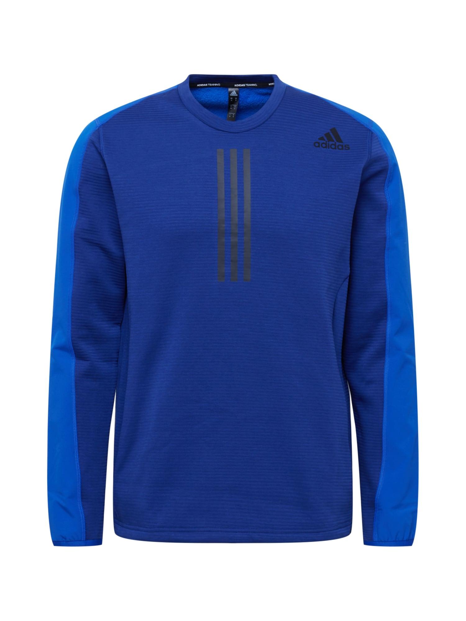 ADIDAS PERFORMANCE Sportovní mikina  marine modrá / nebeská modř / černá